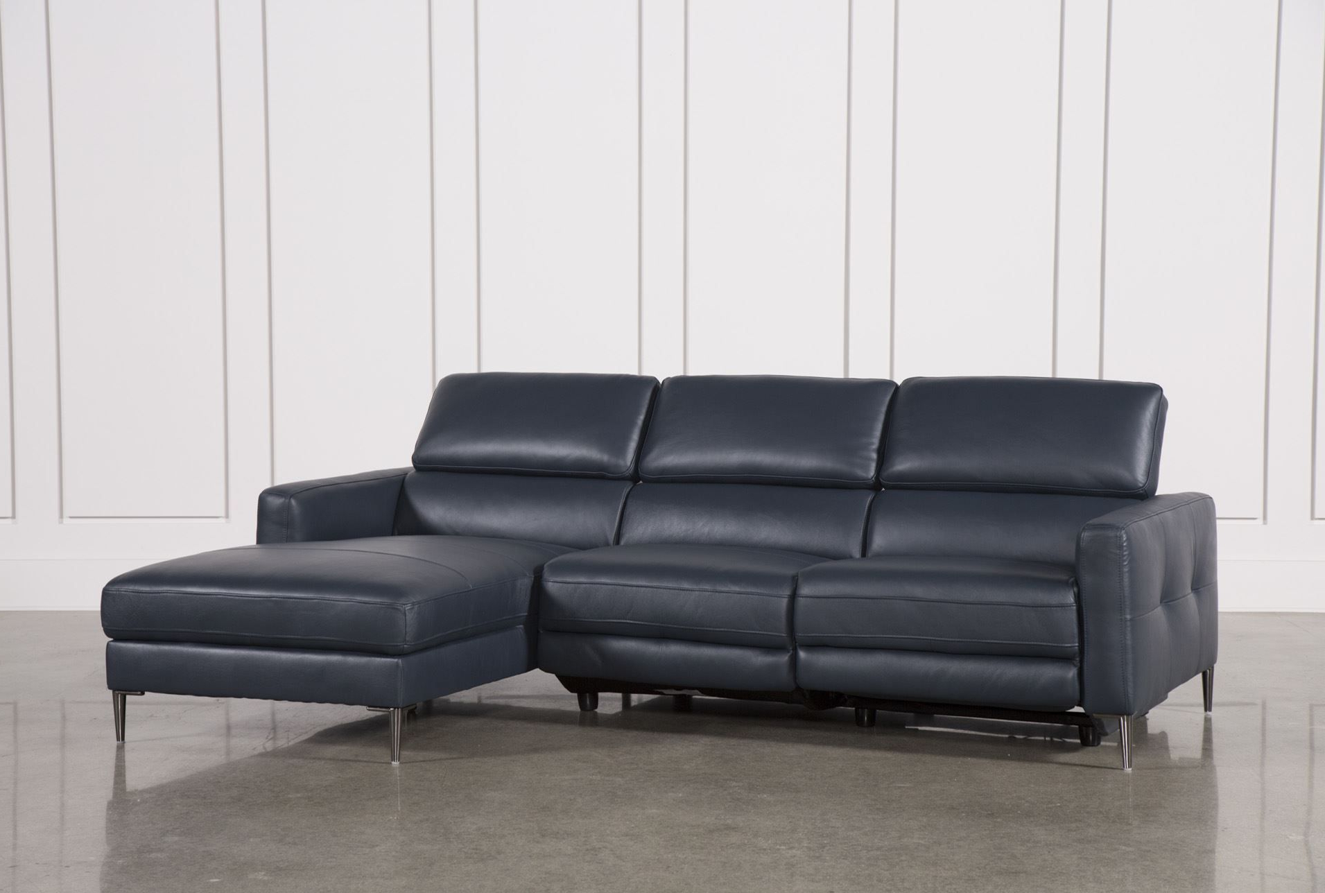 Newest Tara Blue 2 Piece Right Facing Chaise Sofa (View 3 of 20)