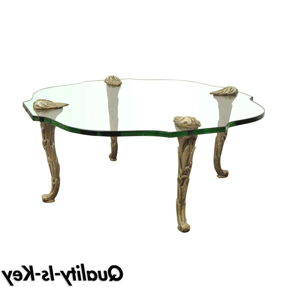 Newest Vintage Hollywood Regency Carved Wood Faux Bois Glass Top Coffee With Faux Bois Coffee Tables (View 14 of 20)