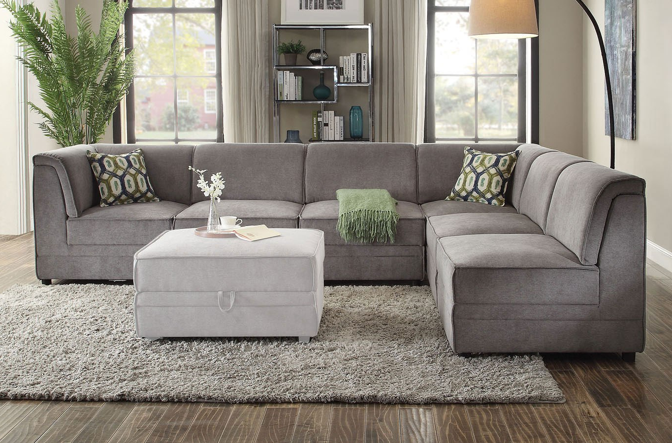 Nico Grey Sectionals With Left Facing Storage Chaise With Regard To Favorite Bois Modular Sectional – Living Room Furniture – Living (View 12 of 20)