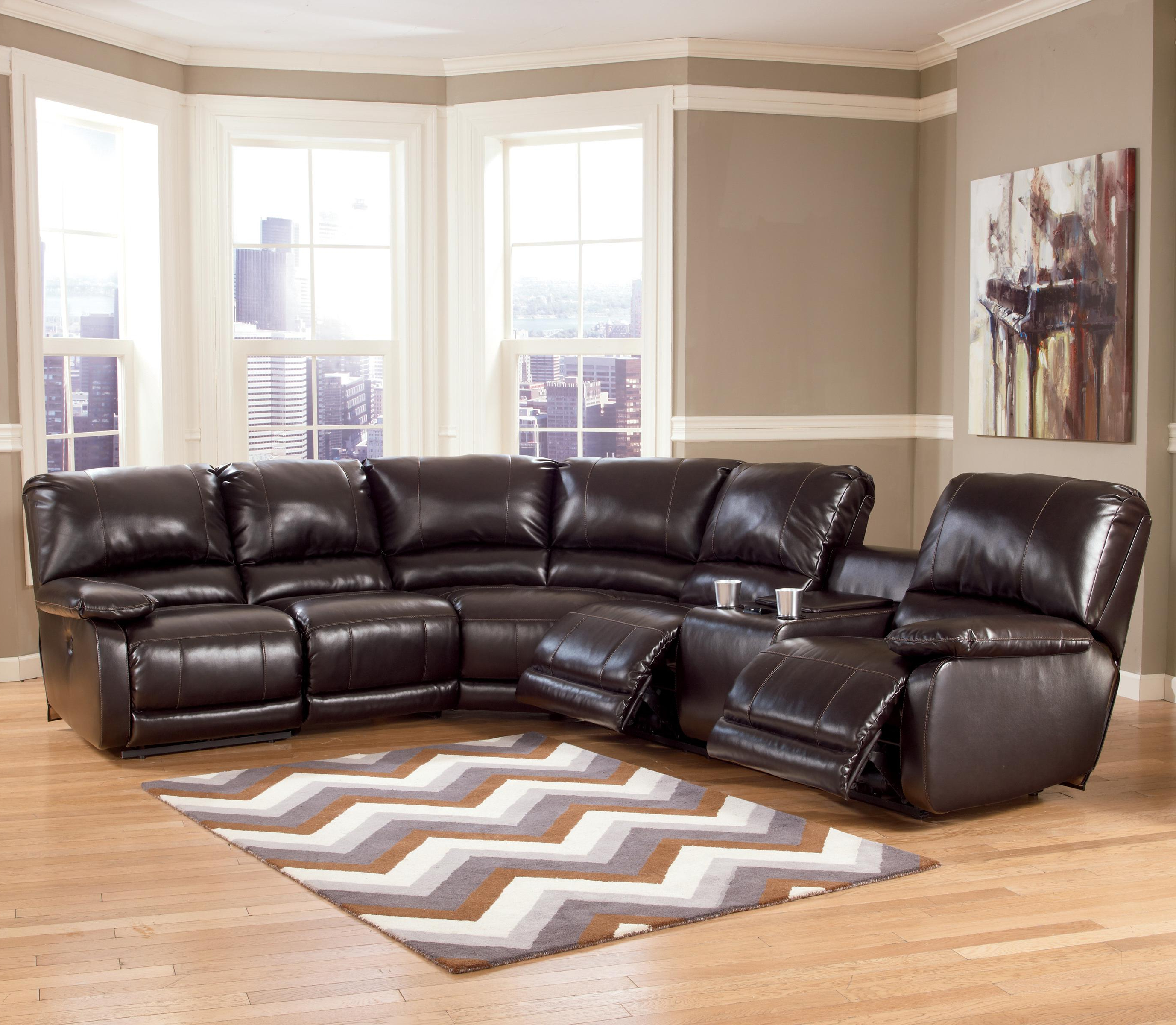 Norfolk Chocolate 3 Piece Sectionals With Raf Chaise Pertaining To Most Recently Released Signature Designashley Capote Durablend® – Chocolate Power (View 13 of 20)