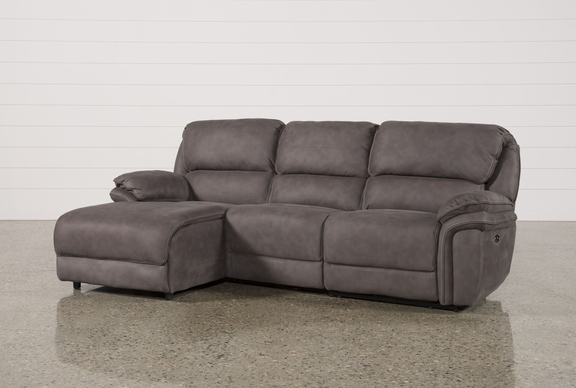 Norfolk Grey 3 Piece Sectionals With Laf Chaise Regarding 2018 Norfolk Grey 3 Piece Sectional W/raf Chaise (Gallery 2 of 20)
