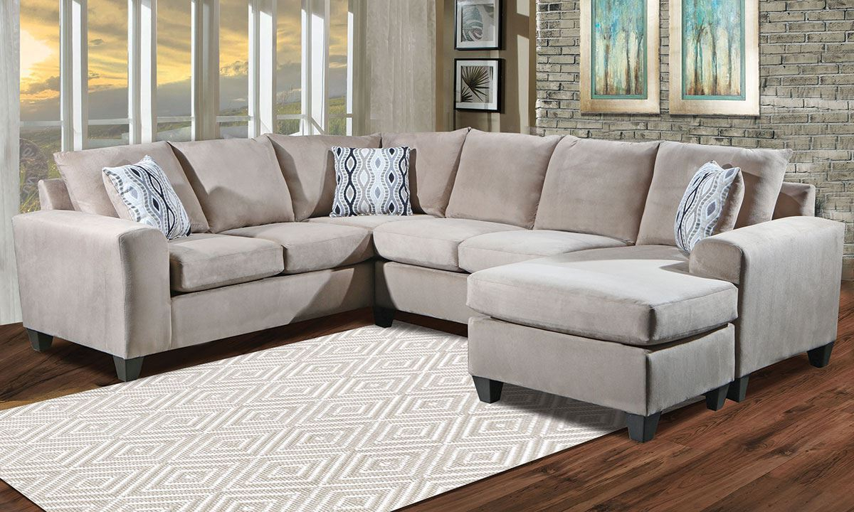 Norfolk Grey 3 Piece Sectionals With Raf Chaise Within Most Popular Room Size Sectional With Reversible Chaise (View 11 of 20)