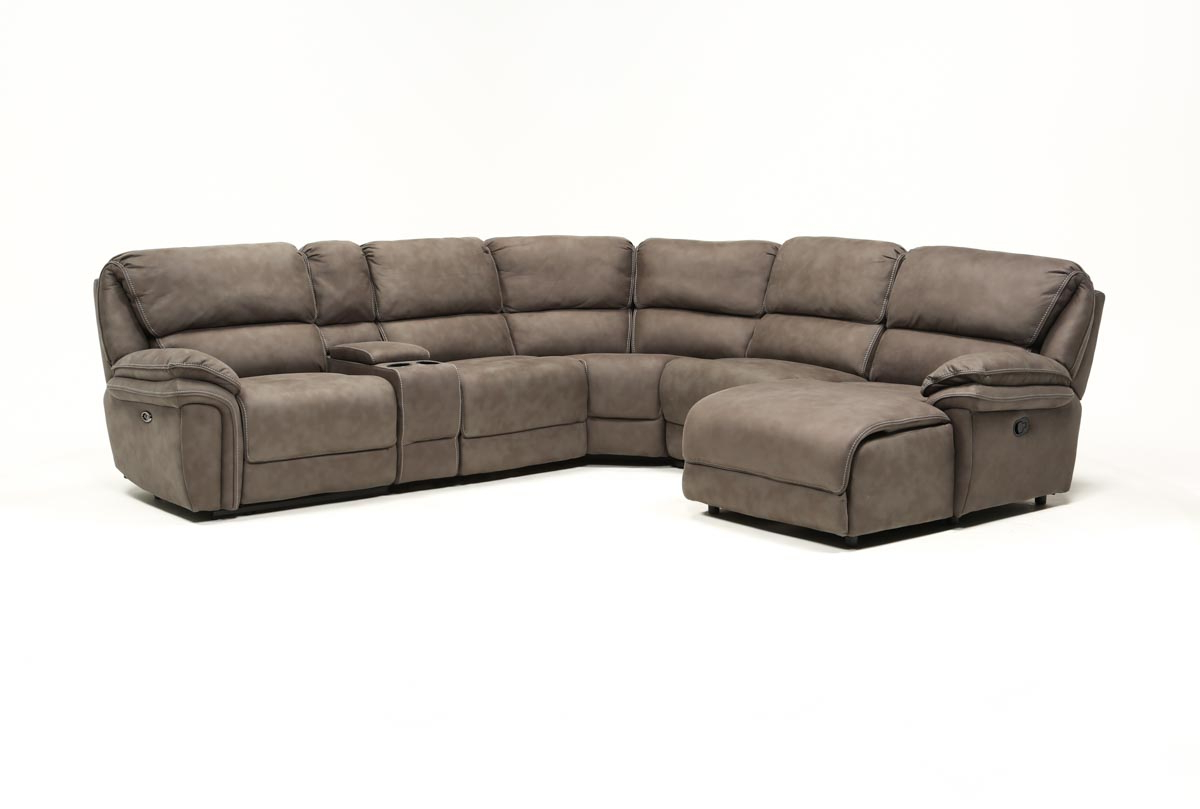 Featured Photo of Norfolk Grey 6 Piece Sectionals With Laf Chaise