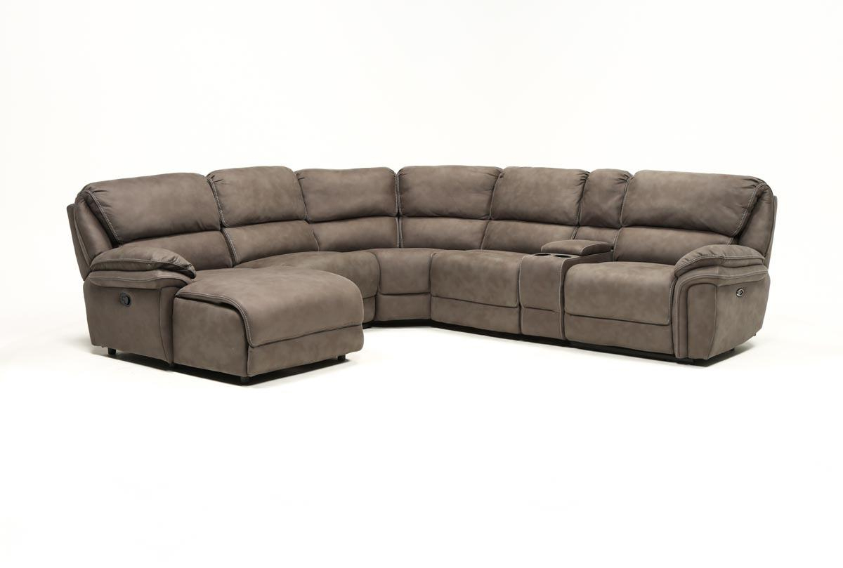 Norfolk Grey 6 Piece Sectional W/raf Chaise (Gallery 9 of 20)