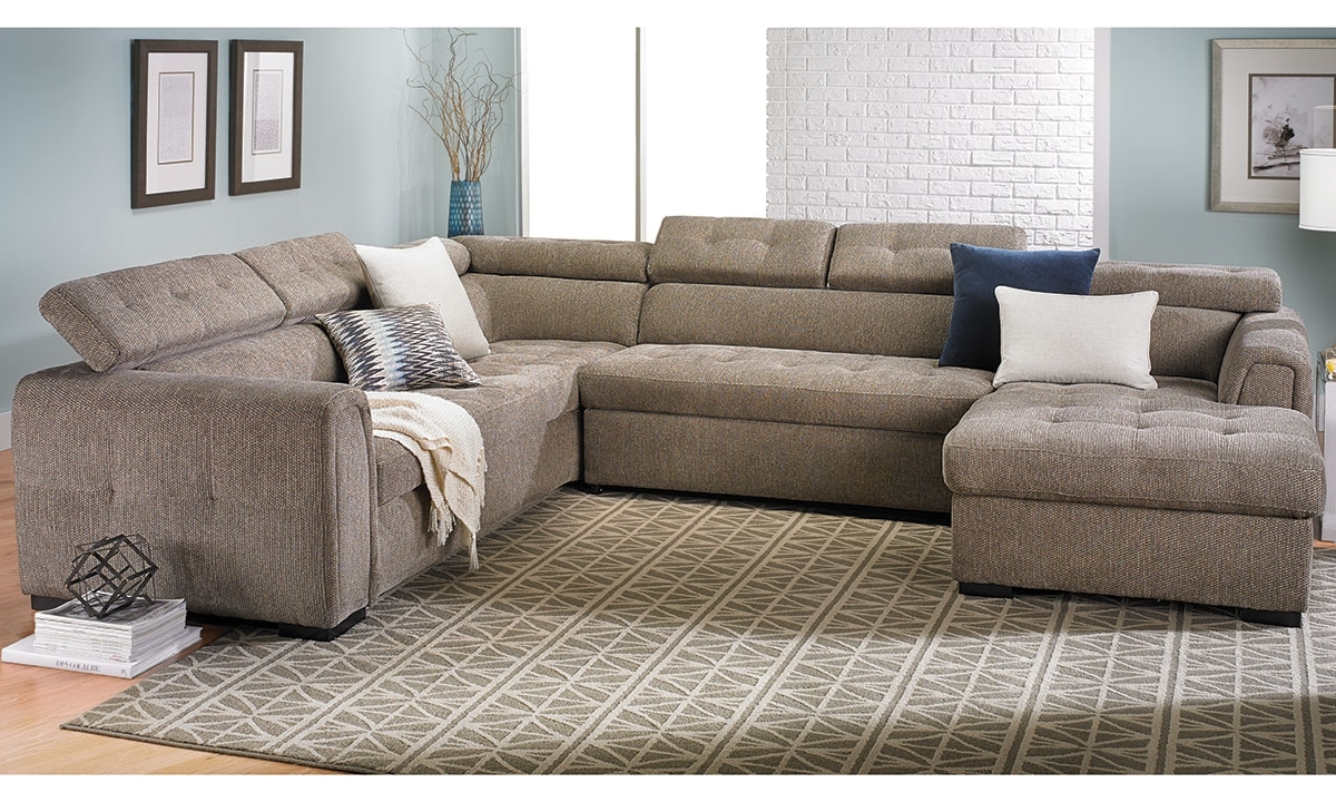 Norfolk Grey 6 Piece Sectionals With Laf Chaise Pertaining To Popular Toledo Contemporary Sleeper Storage Sectional (View 11 of 20)