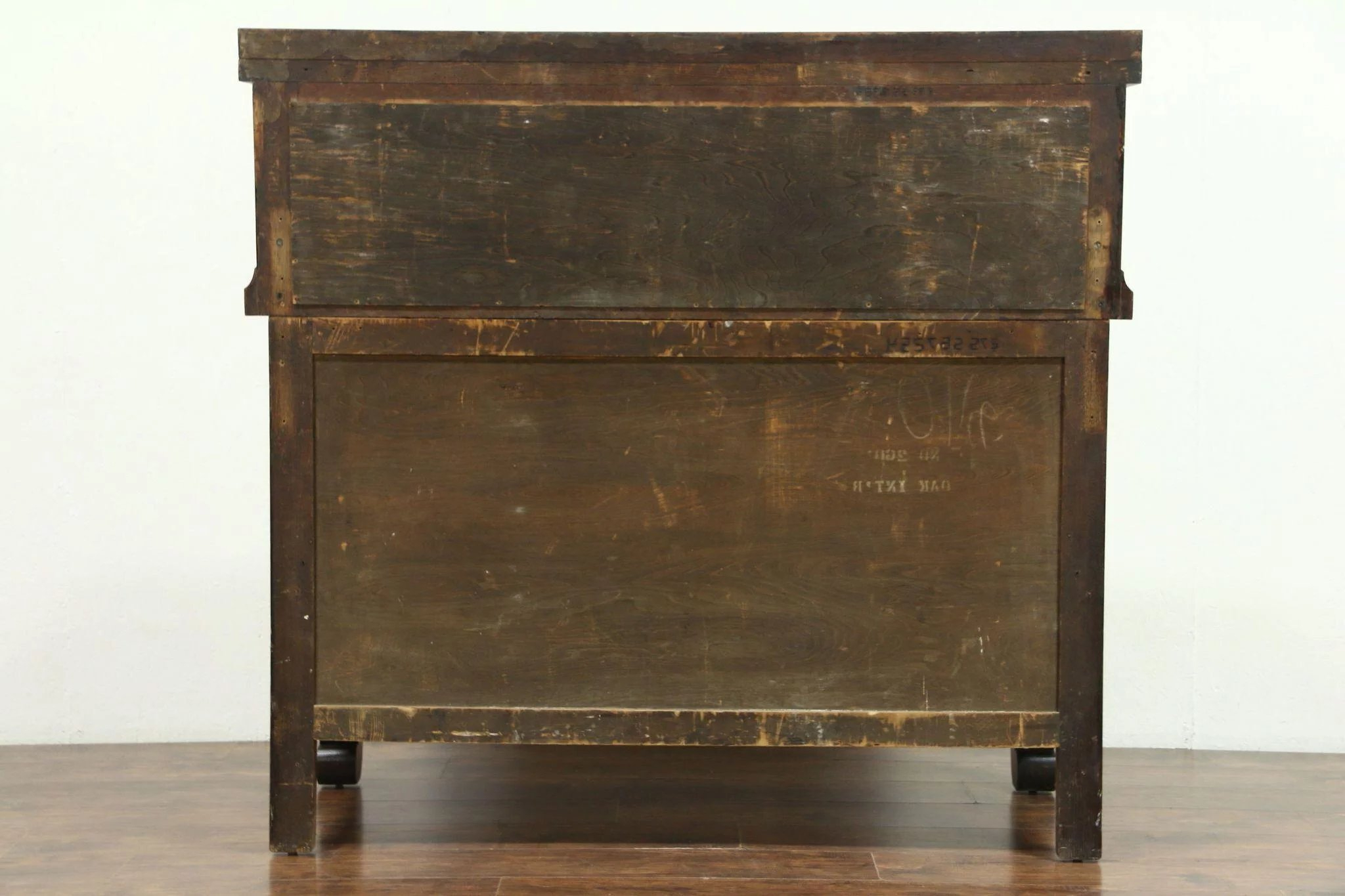 Oak Empire 1900 Antique Sideboard, Server Or Buffet, Beveled Mirror In Preferred Vintage 8 Glass Sideboards (View 10 of 20)