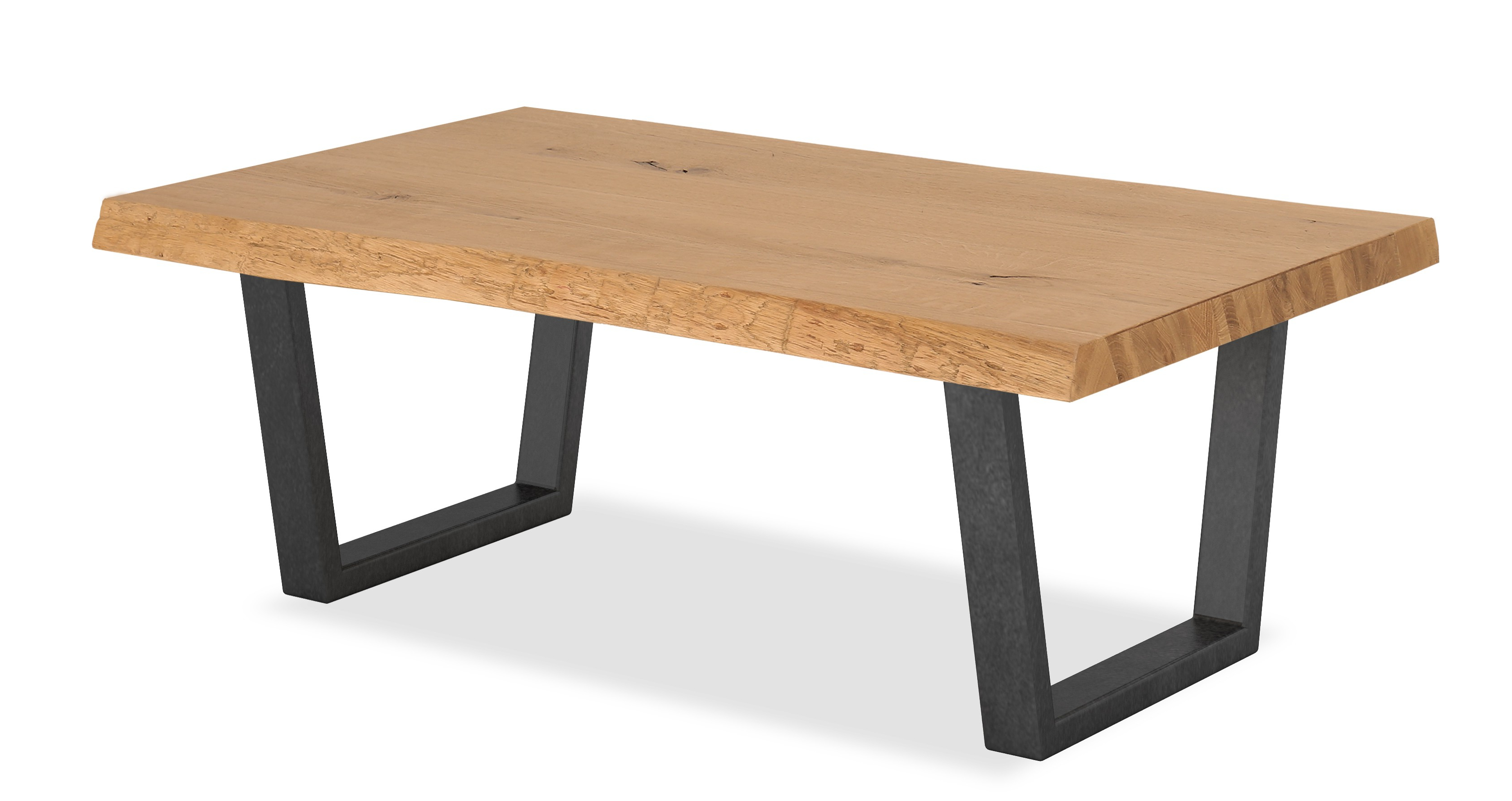 Oak Mill Waxed Oak Coffee Table – Metal Legs – Style Our Home Within Best And Newest Waxed Metal Coffee Tables (View 11 of 20)