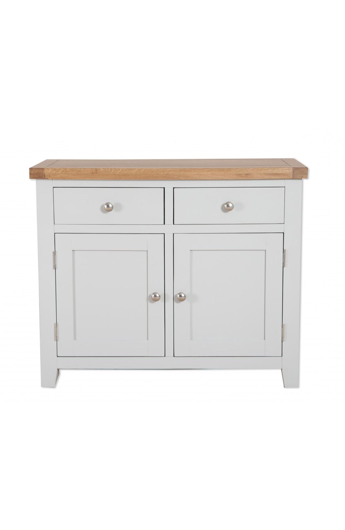 Oakwood Living Grey Painted Oak 2 Door Sideboard 99 X 46 X 81 Cm Inside Most Up To Date Natural Oak Wood 2 Door Sideboards (View 19 of 20)