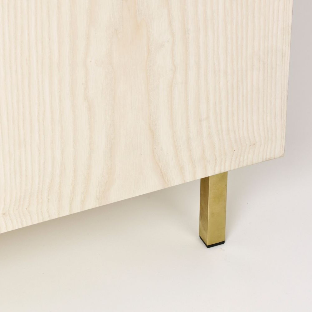 Oil Pale Finish 3 Door Sideboards For Widely Used Sideboard Two – 3 Doors Ash & Walnutanother Country Clippings (View 3 of 20)