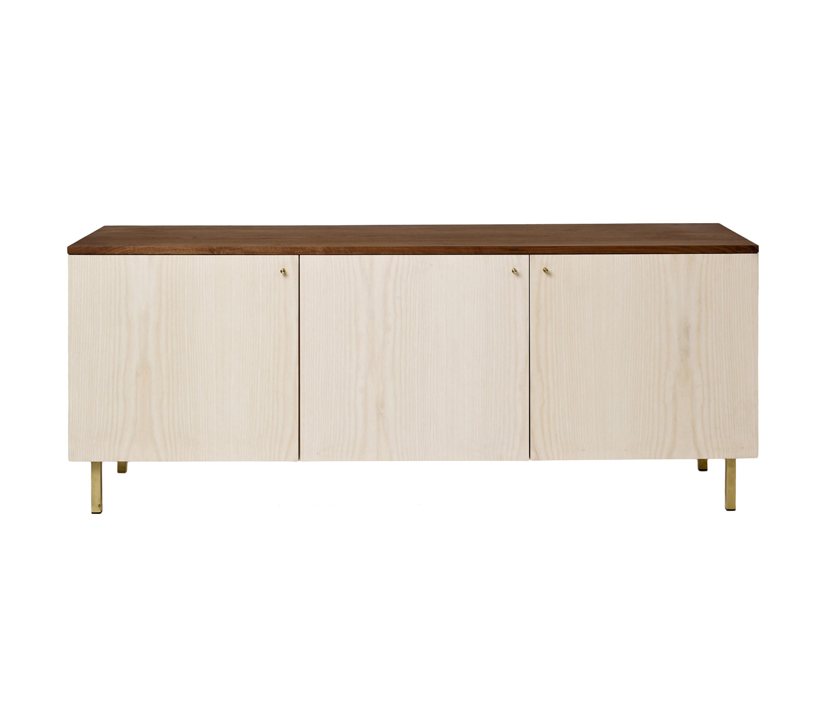 Oil Pale Finish 4 Door Sideboards Intended For Widely Used Sideboard Two 3 Door – Ash & Walnut – Sideboards From Another (Gallery 8 of 20)
