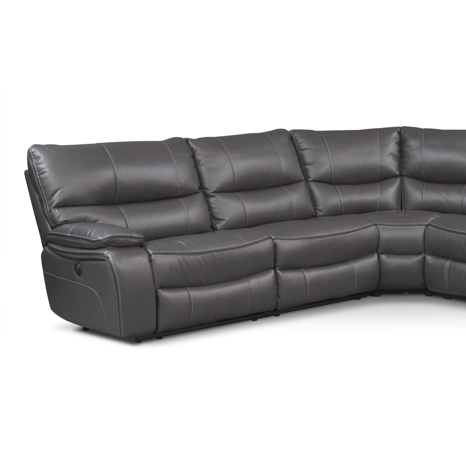 Orlando 6 Piece Power Reclining Sectional With 1 Stationary Chair For Best And Newest Kristen Silver Grey 6 Piece Power Reclining Sectionals (View 4 of 20)