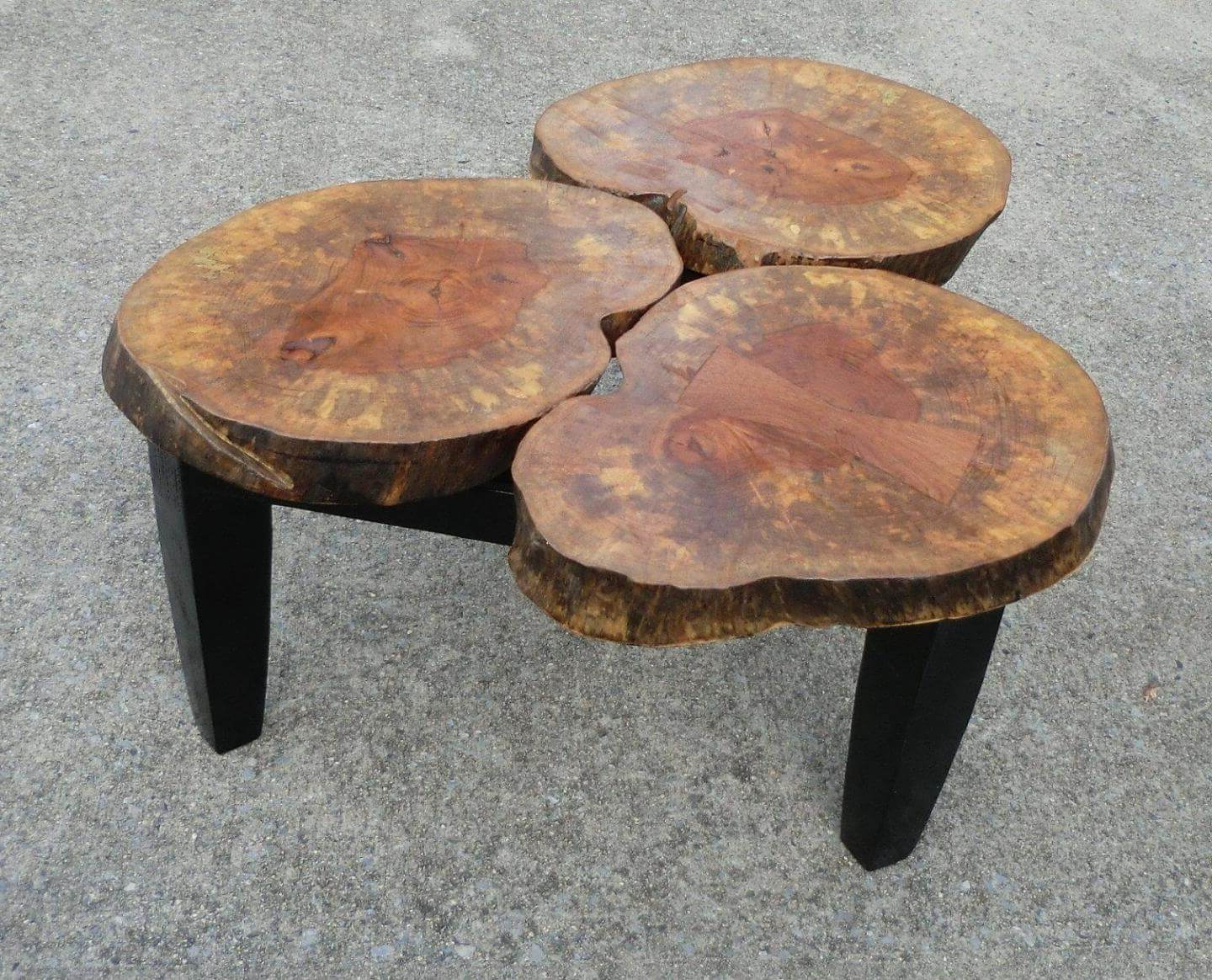 Oslo Burl Wood Veneer Coffee Tables Intended For Current Amish Tree Stump Coffee Tables : America Underwater Decor – Unique (View 15 of 20)