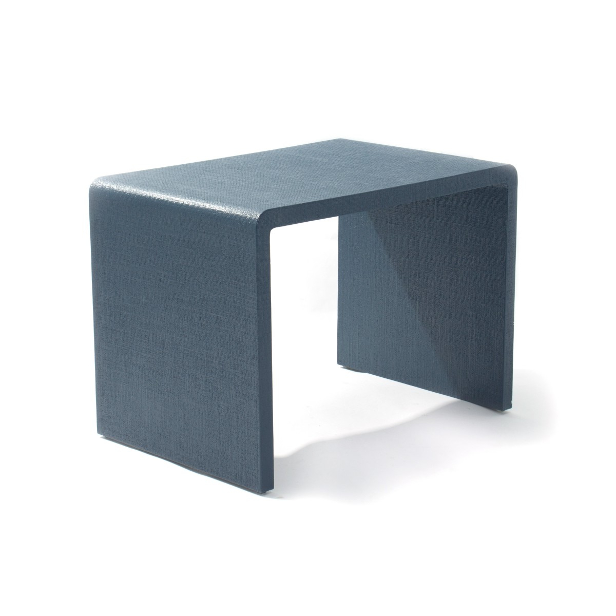Pair Of John Lyle Blue Lacquered Linen Waterfall Side Tables Decor Throughout Most Recent Square Waterfall Coffee Tables (View 12 of 20)