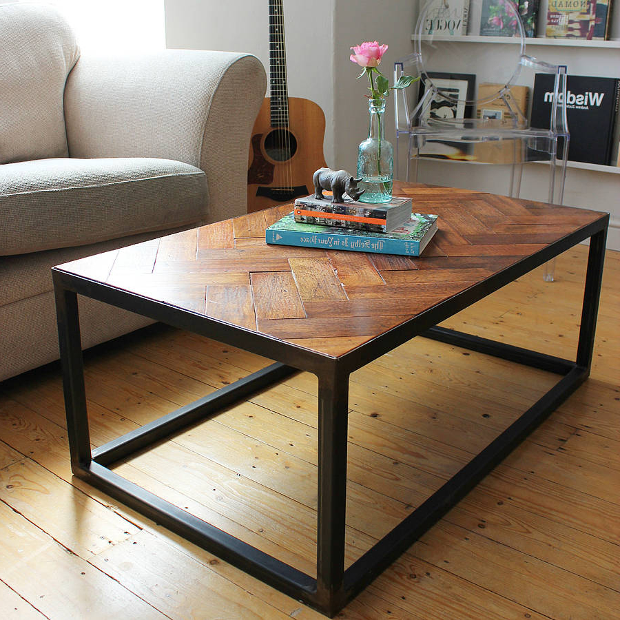 Parquet Coffee Tables For Popular Objects Of Design #327: Upcycled Parquet Coffee Table – Mad About (View 11 of 20)
