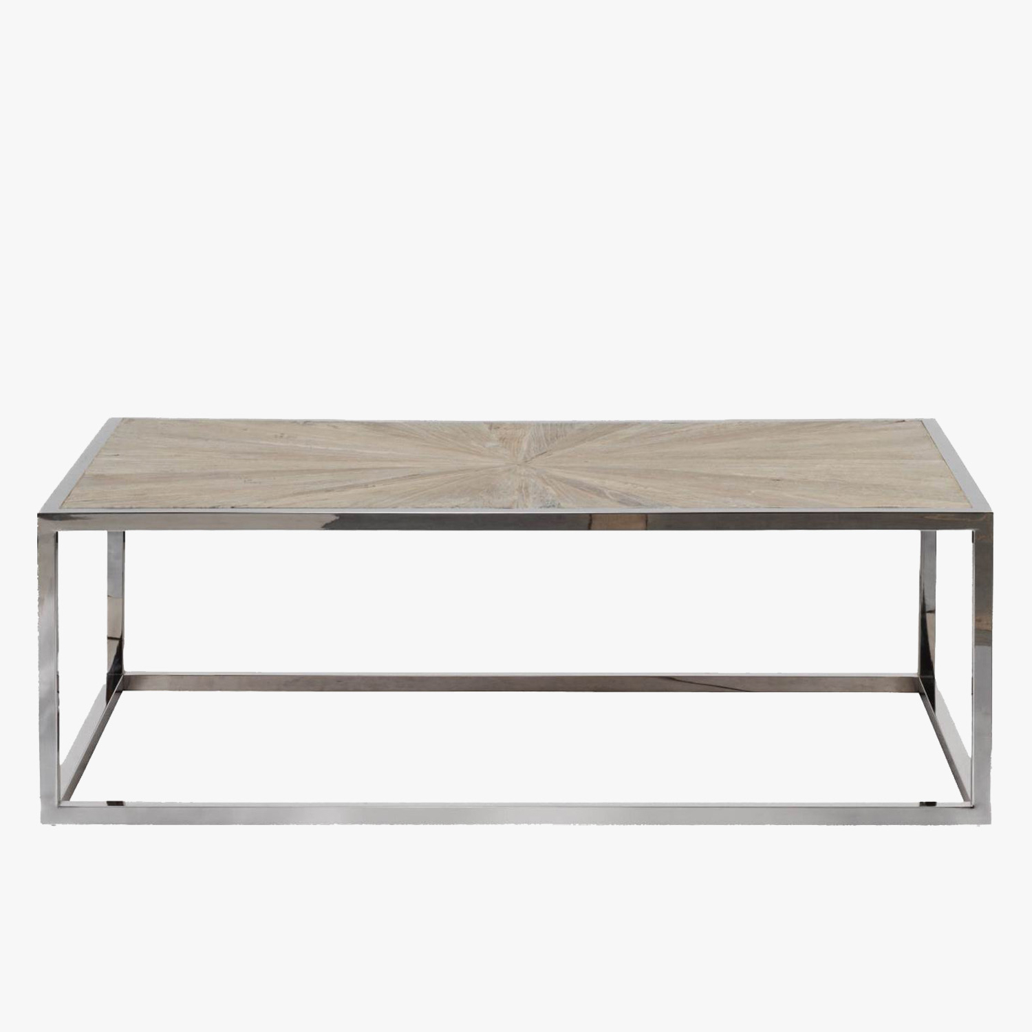 Parquet Coffee Tables Within Best And Newest Parquet Top Chrome Coffee Table – Shop Coffee Tables – Dear Keaton (View 7 of 20)