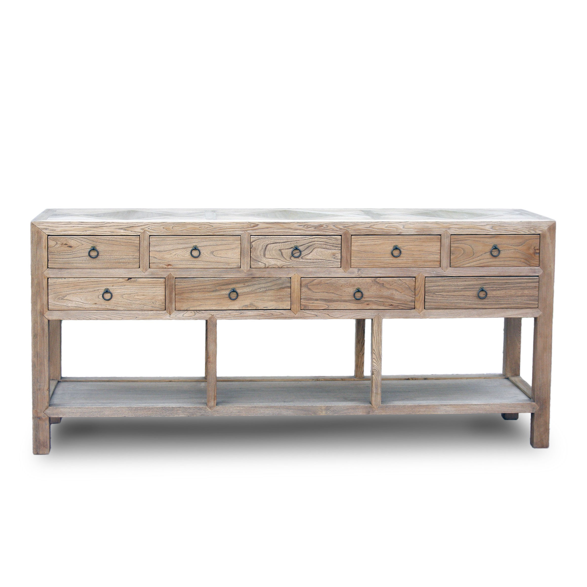 Parquet Sideboards With Most Popular 9 Drawer Raised Sideboard With Parquet Or Stone Inlay Top – Acf China (View 16 of 20)