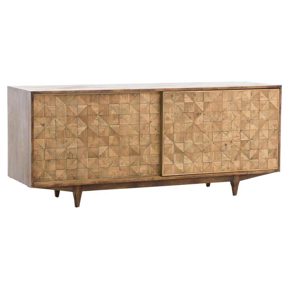 Peggy Mid Century Golden Brown Parquet Retro Wooden Sideboard For Popular Parquet Sideboards (View 12 of 20)