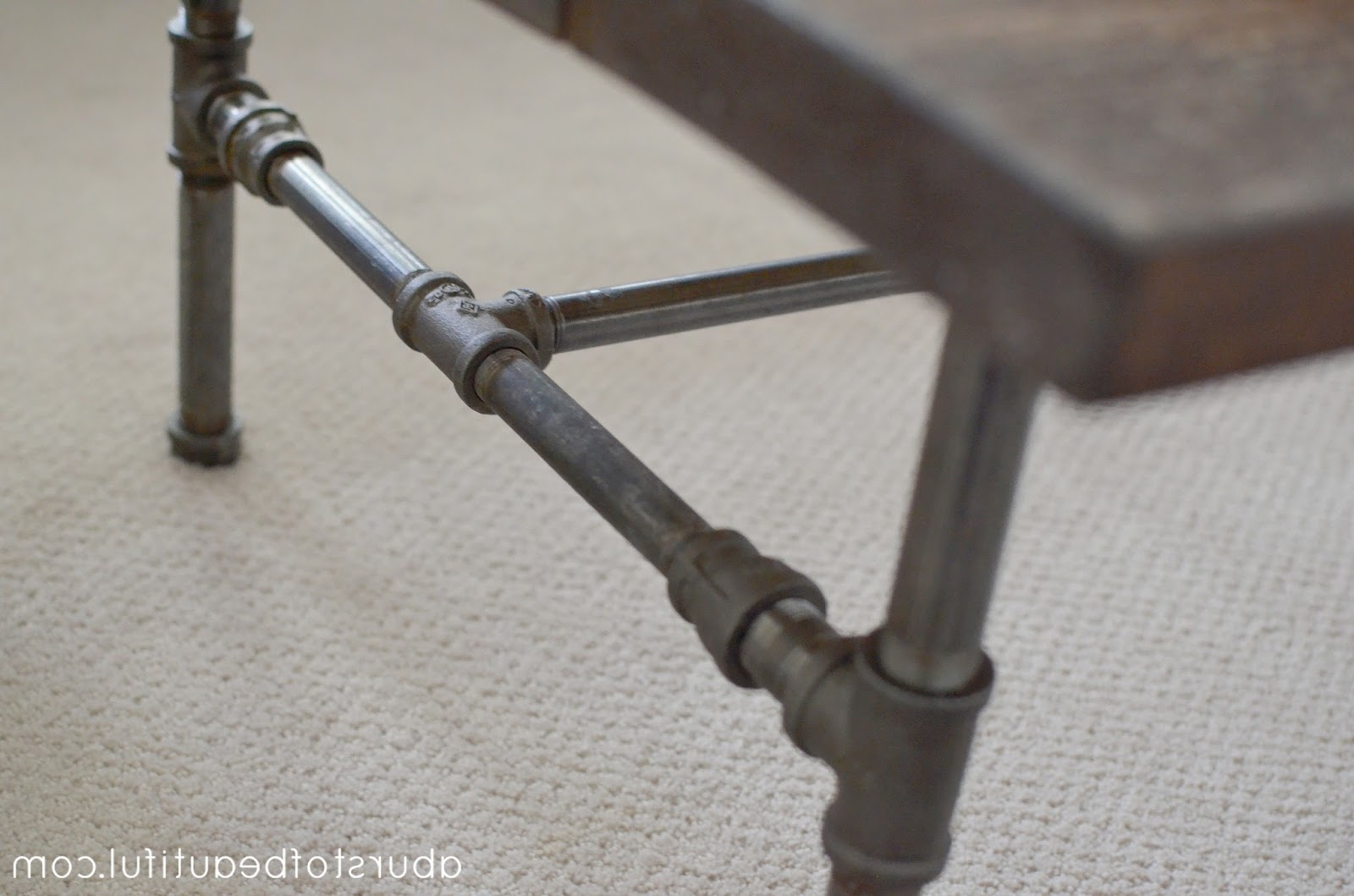 Pine Metal Tube Coffee Tables With Regard To Trendy Diy Rustic Industrial Pipe Coffee Table – A Burst Of Beautiful (Gallery 8 of 20)