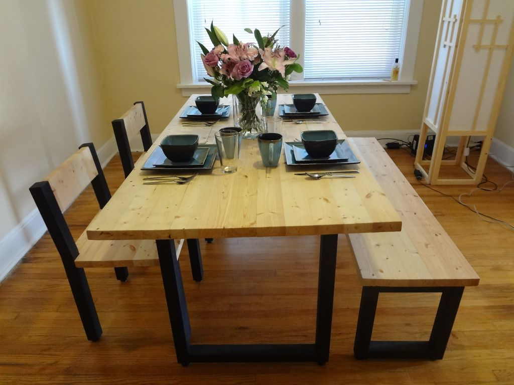 Pine Metal Tube Coffee Tables Within Most Recently Released Steel And 2X4 Full Dining Table Set: 9 Steps (With Pictures) (Gallery 19 of 20)