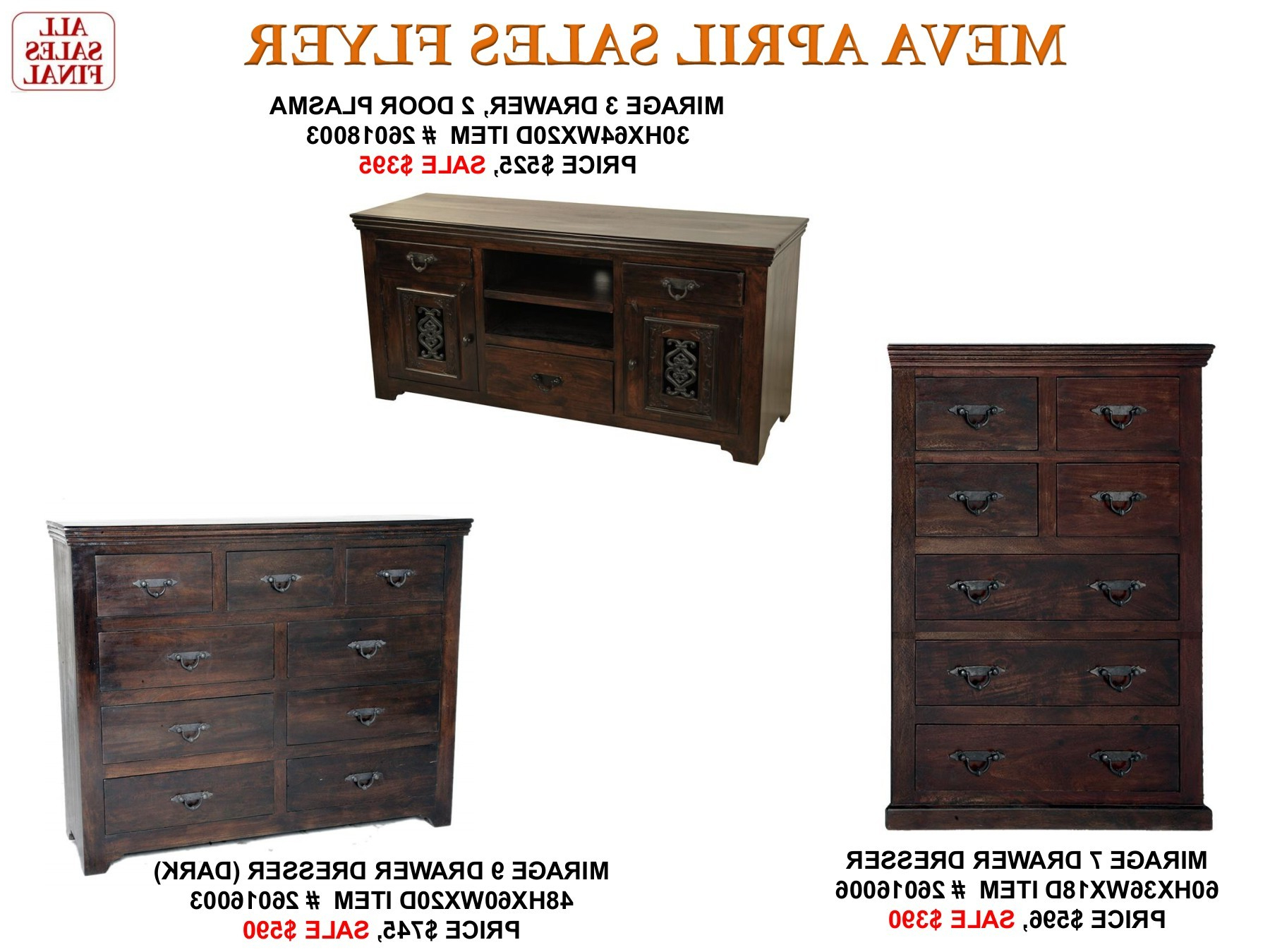 Popular 2 Door/2 Drawer Cast Jali Sideboards Pertaining To Meva 2017 April Furniture Sales Flyer Pages 1 – 50 – Text Version (View 13 of 20)