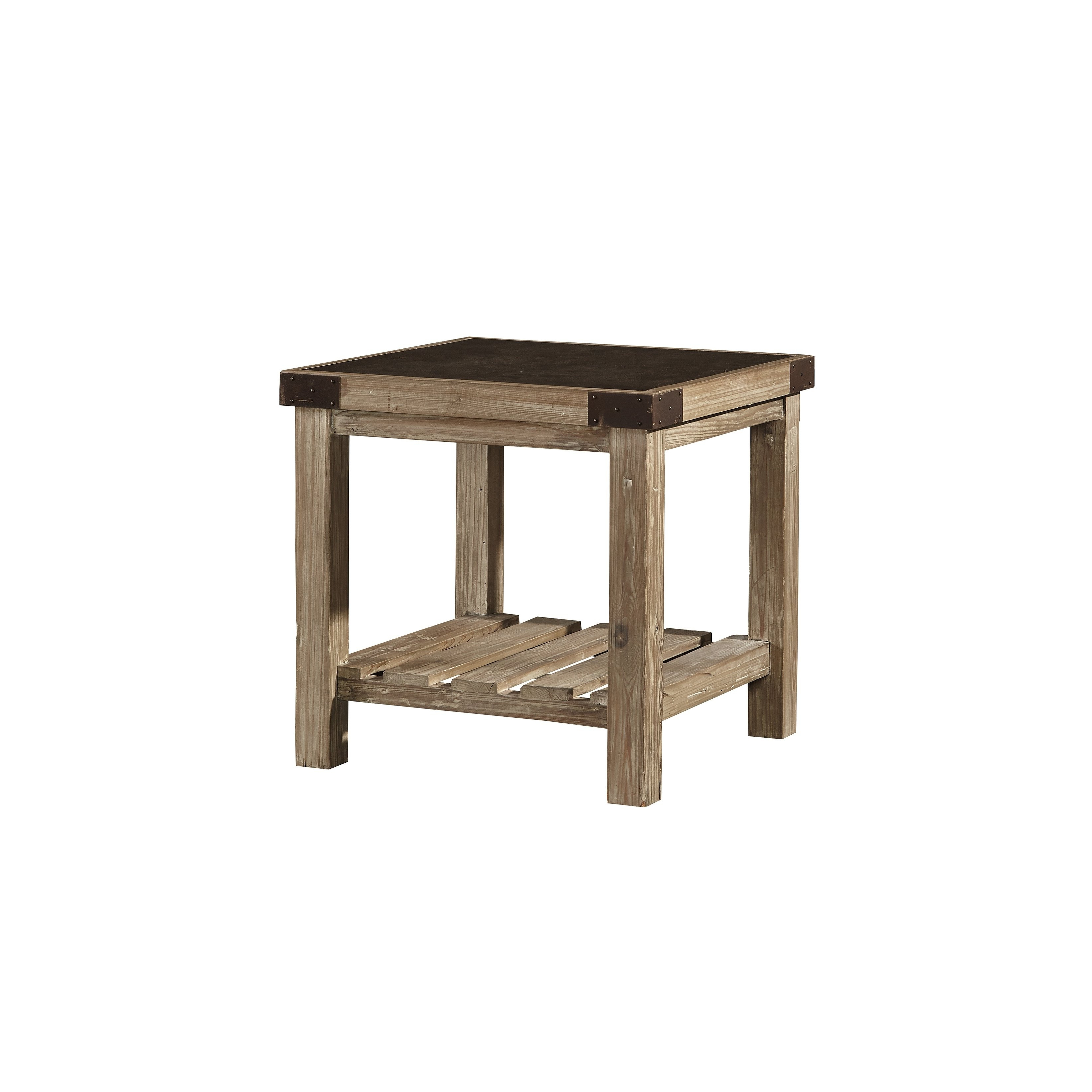 Popular Bluestone Rustic Black Coffee Tables Intended For Shop Anatolios Wood Side Table With Bluestone Top – Free Shipping (View 18 of 20)