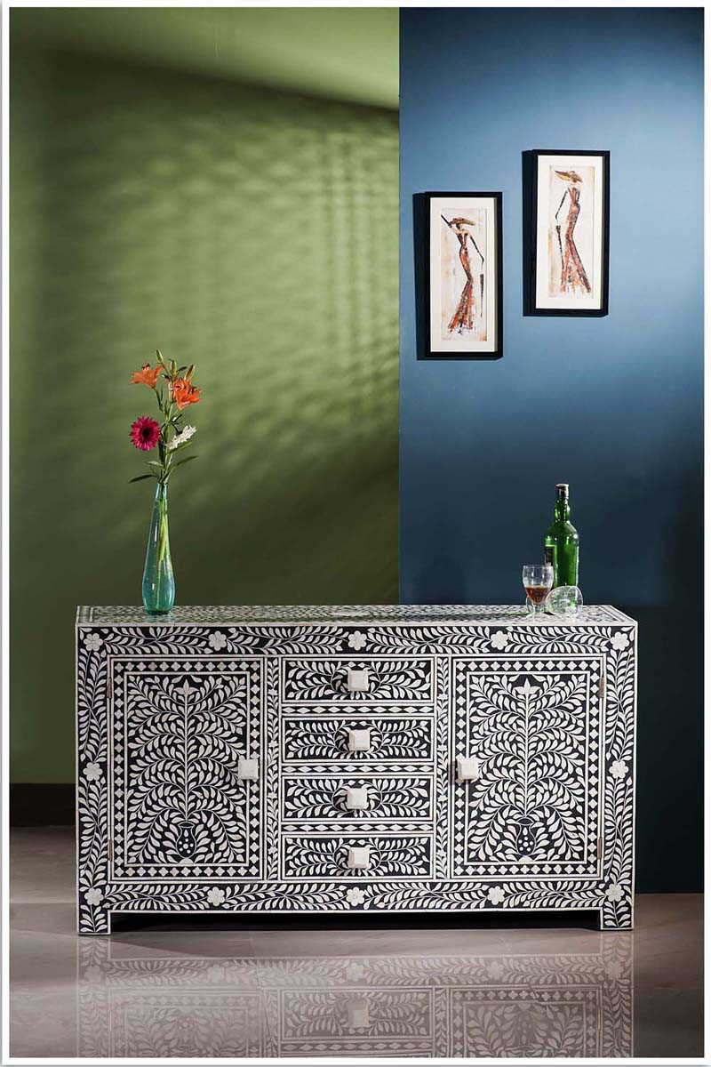 Popular Bone Inlay Dresser – Bone & Mother Of Pearl Inlay Furntiure Store In Geo Pattern Black And White Bone Inlay Sideboards (Gallery 3 of 20)