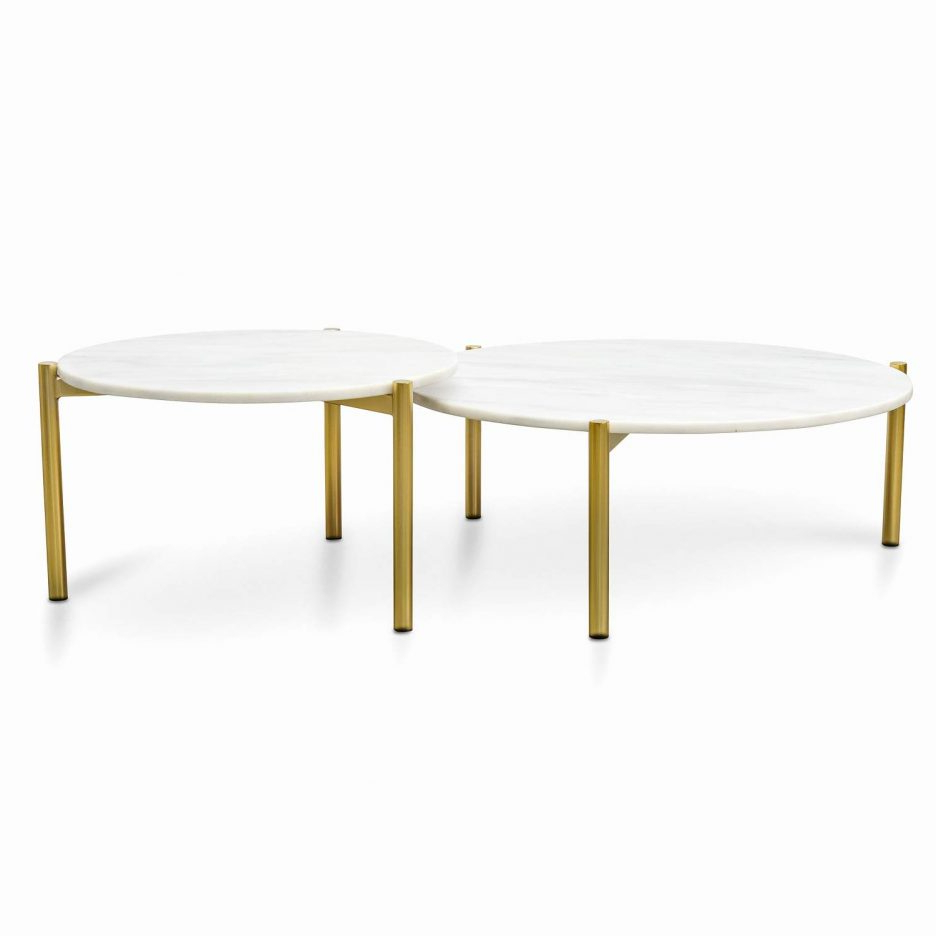 Popular Brass Coffee Table Marble Top – Coffee Table Ideas Intended For Smart Round Marble Brass Coffee Tables (View 10 of 20)