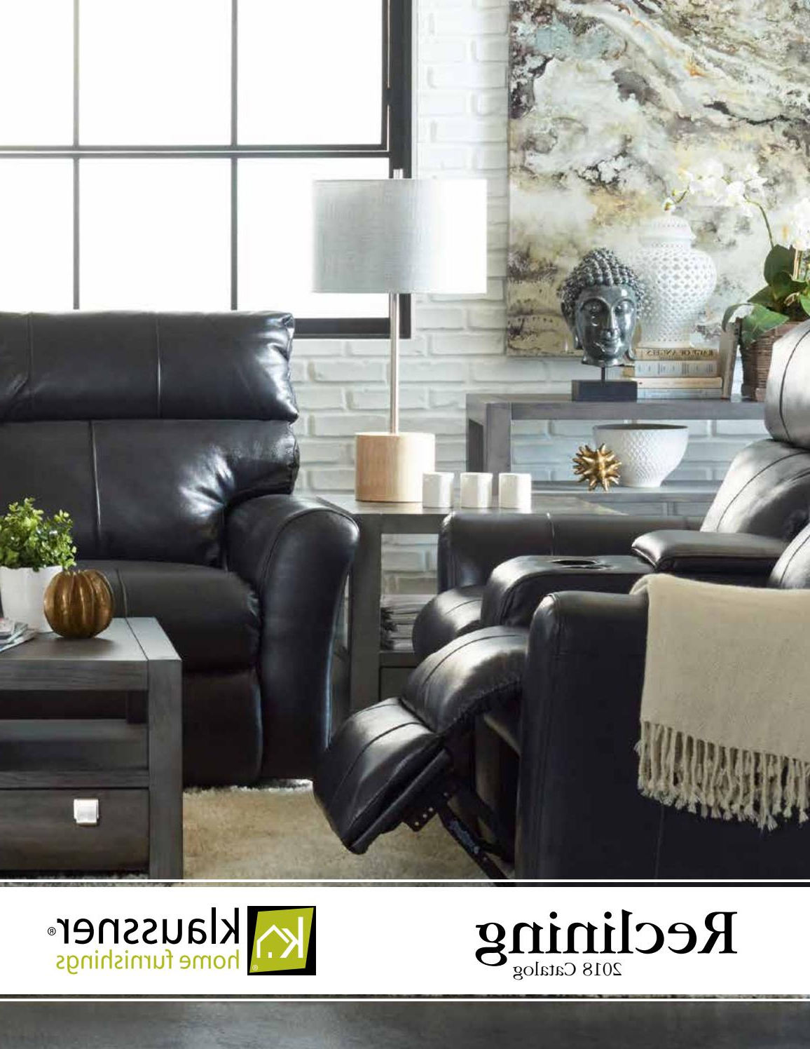 Popular Denali Charcoal Grey 6 Piece Reclining Sectionals With 2 Power Headrests Throughout Reclining Catalog 06192018Klaussner Home Furnishings – Issuu (View 14 of 20)