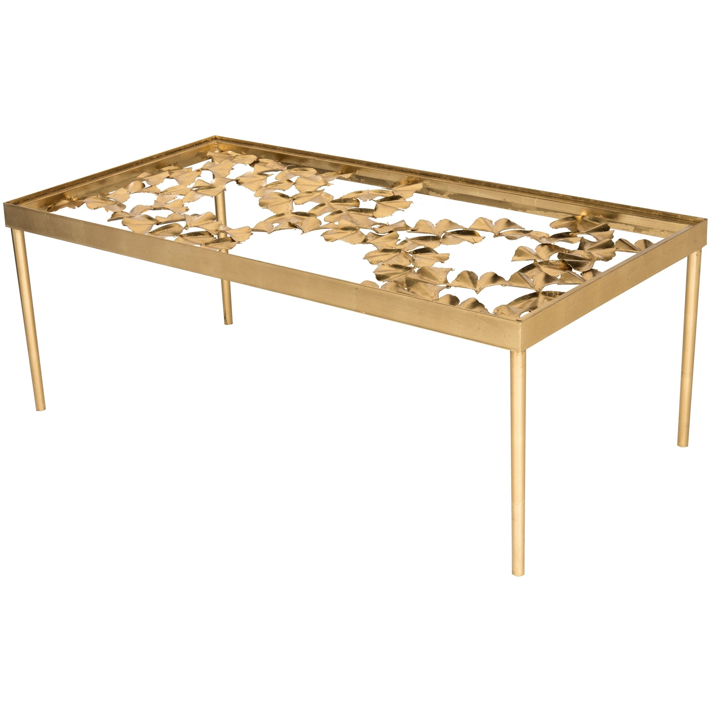 Popular Gold Leaf Collection Coffee Tables Inside Shop Safavieh Otto Antique Gold Leaf Coffee Table – Free Shipping (View 14 of 20)