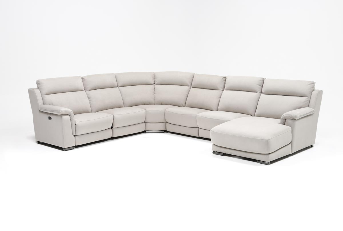 Popular Kristen Silver Grey 6 Piece Power Reclining Sectionals In Kerwin Silver Grey 6 Piece Power Reclining Sectional W/laf Chaise (View 13 of 20)