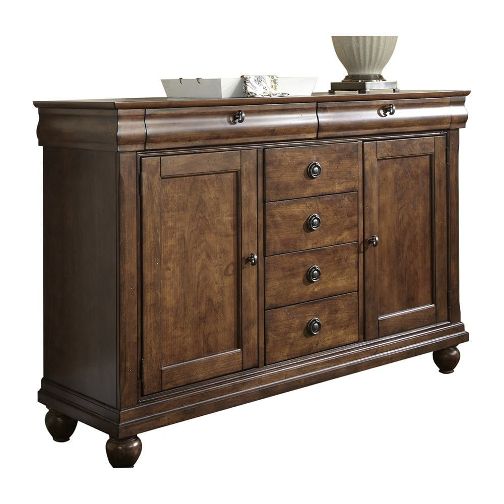 Popular Logan Sideboards Pertaining To Shop Liberty Furniture 589 Sr5842 Rustic Traditions Server At The (Gallery 11 of 20)