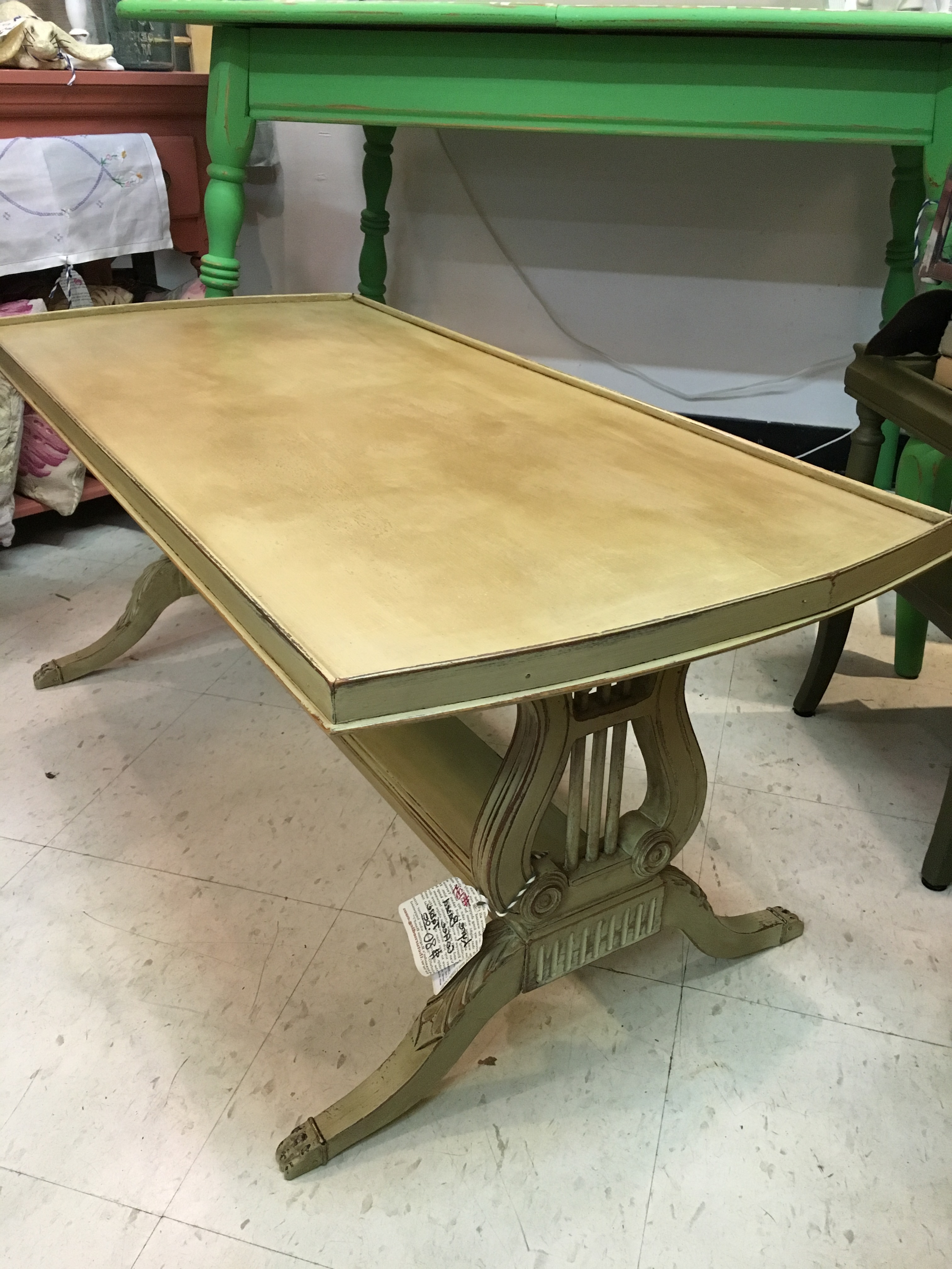 Popular Lyre Coffee Tables For Lyre Based Coffee Table $80 Sold – The Turned Leg (Gallery 1 of 20)