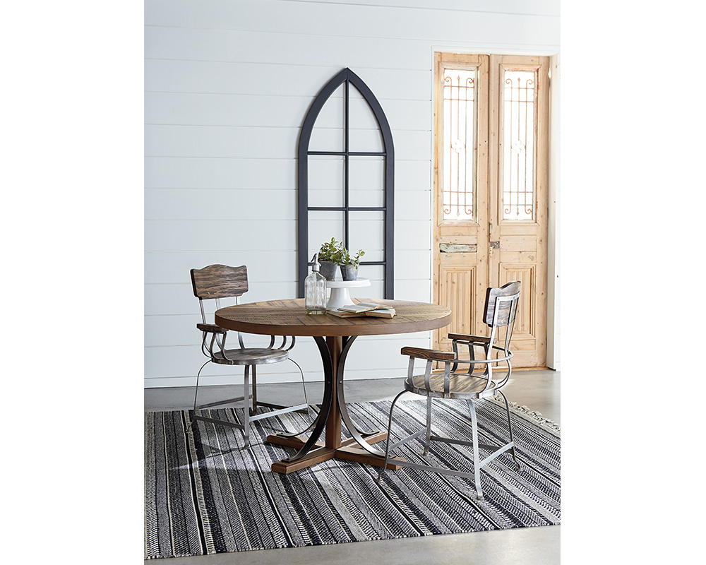 Popular Magnolia Home Iron Trestle Cocktail Tables In Round Iron Trestle Table – Joanna Gaines, Magnolia Home (View 13 of 20)