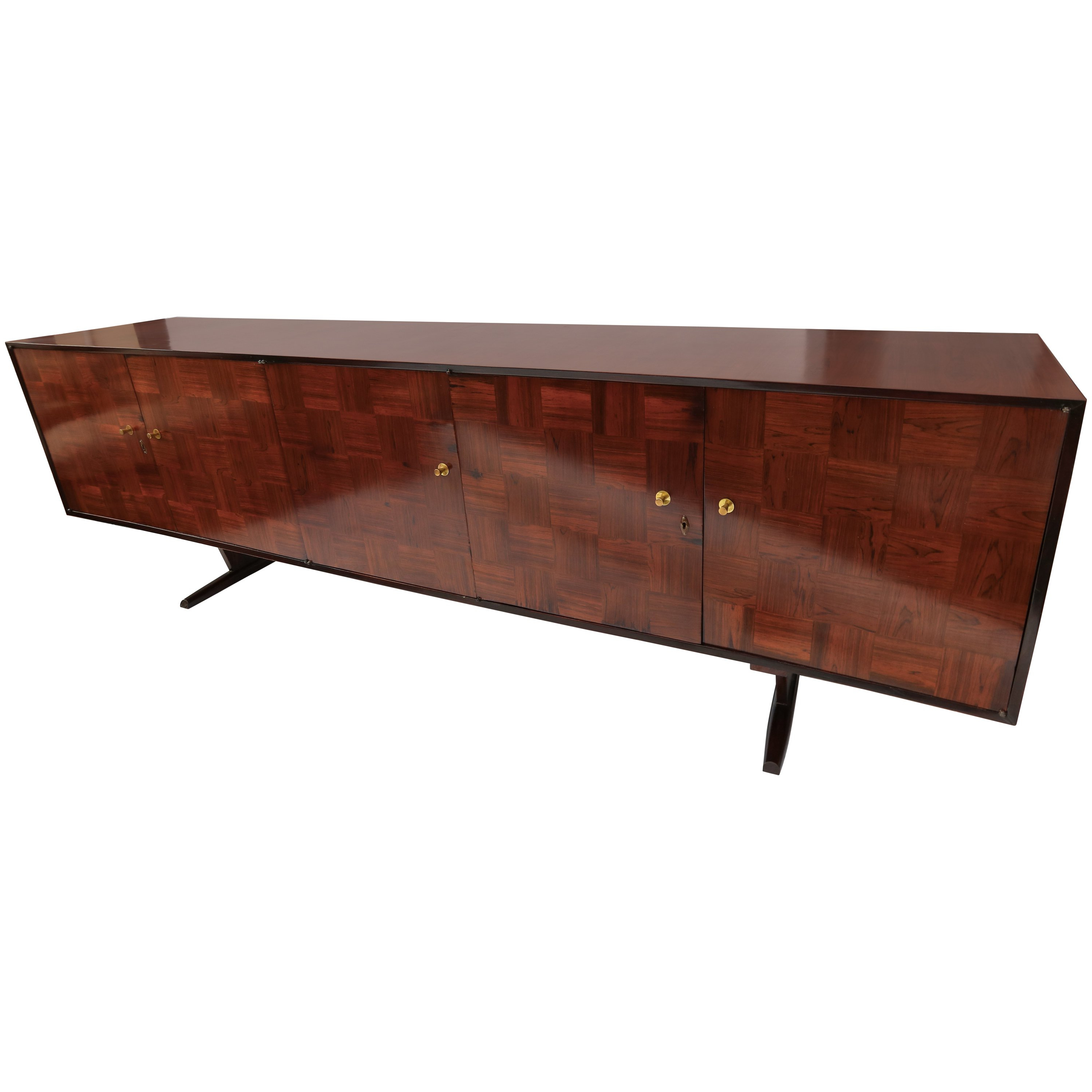 Popular Parquet Sideboards For Scapinelli 1960S Brazilian Jacaranda Parquet Sideboard For Sale At (View 13 of 20)