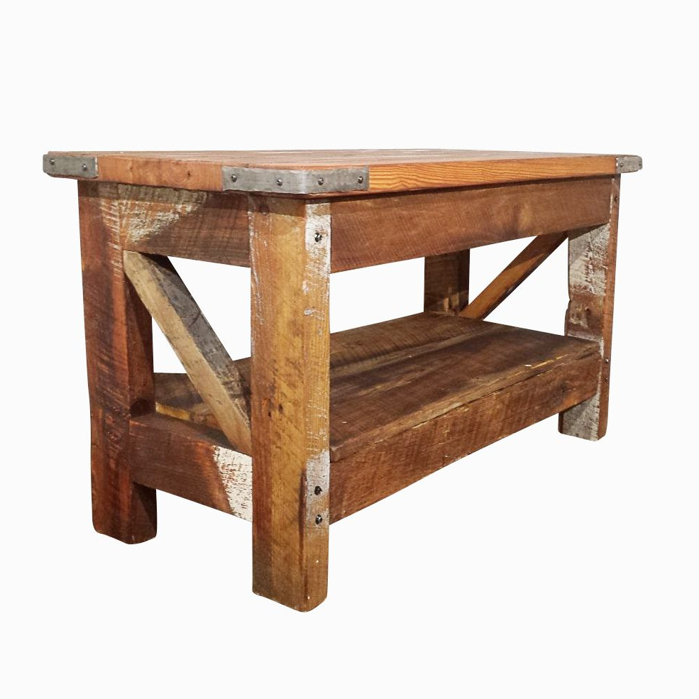 Popular Reclaimed Pine & Iron Coffee Tables Inside Buy A Hand Made Saloon Style Western Coffee Table, Made To Order (View 13 of 20)