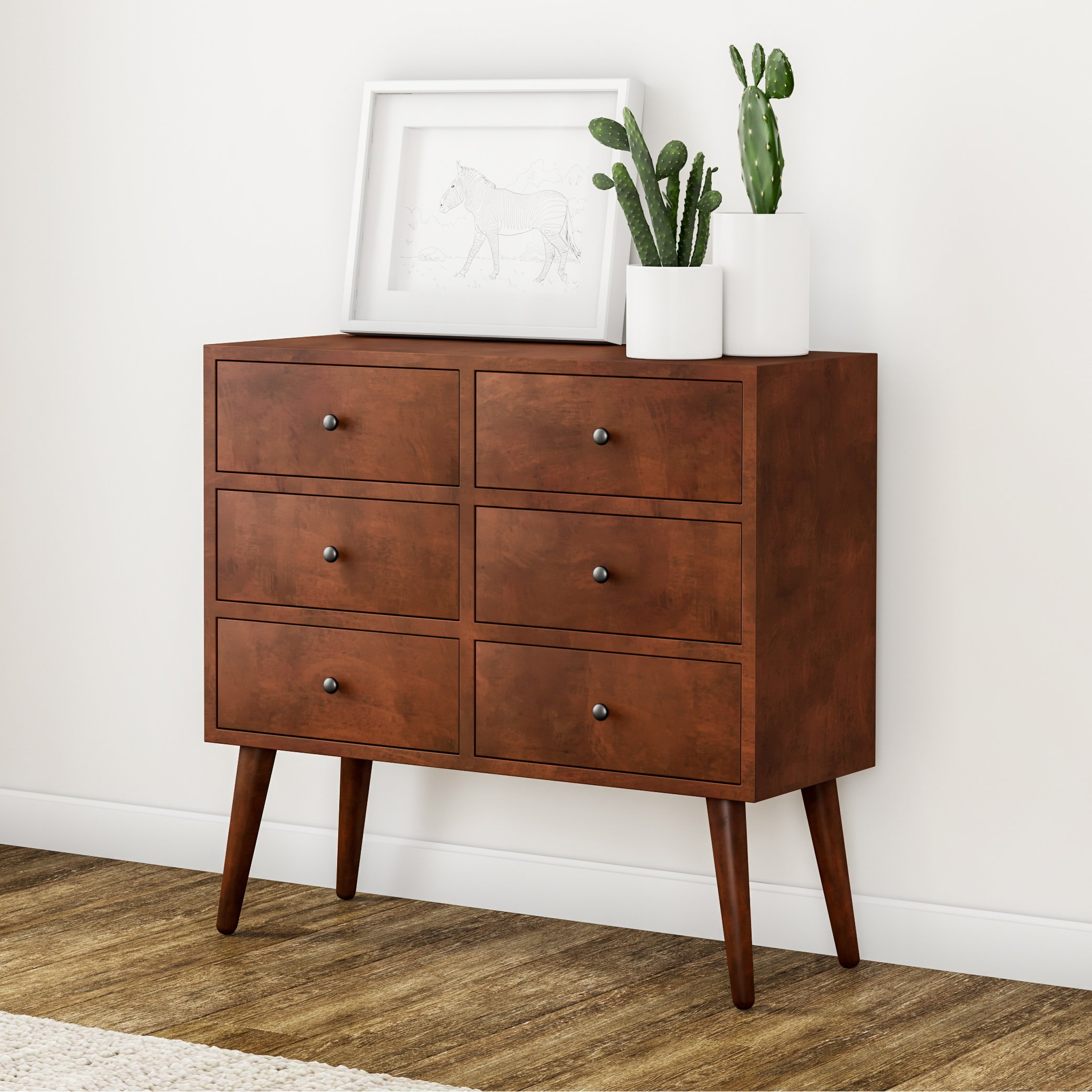Popular Shop Carson Carrington Linkoping Mid Century 6 Drawer Wood Accent Pertaining To Walnut Finish 6 Drawer Coffee Tables (View 13 of 20)