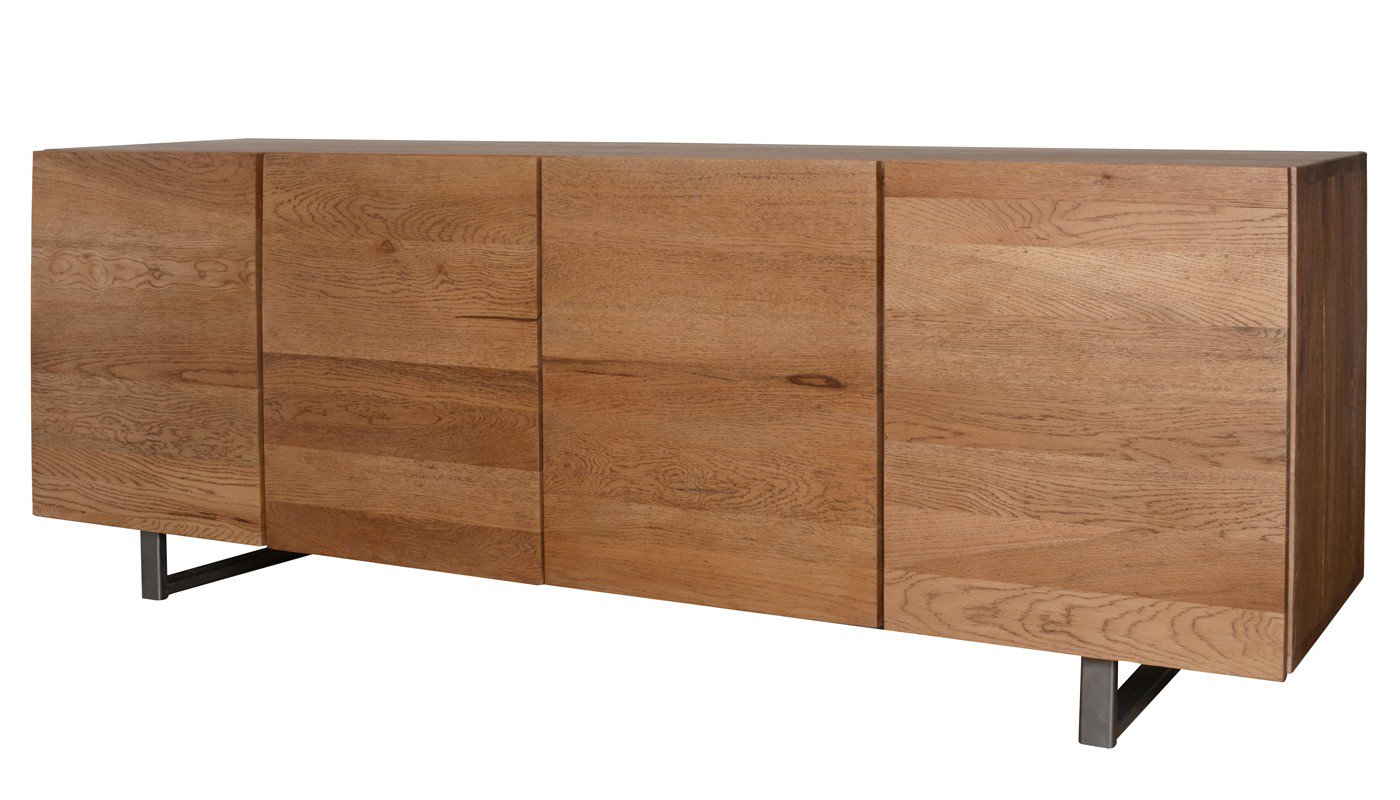 Popular Square Brass 4 Door Sideboards Within Heal's Siena 4 Door Sideboard In Antique Oak (View 12 of 20)