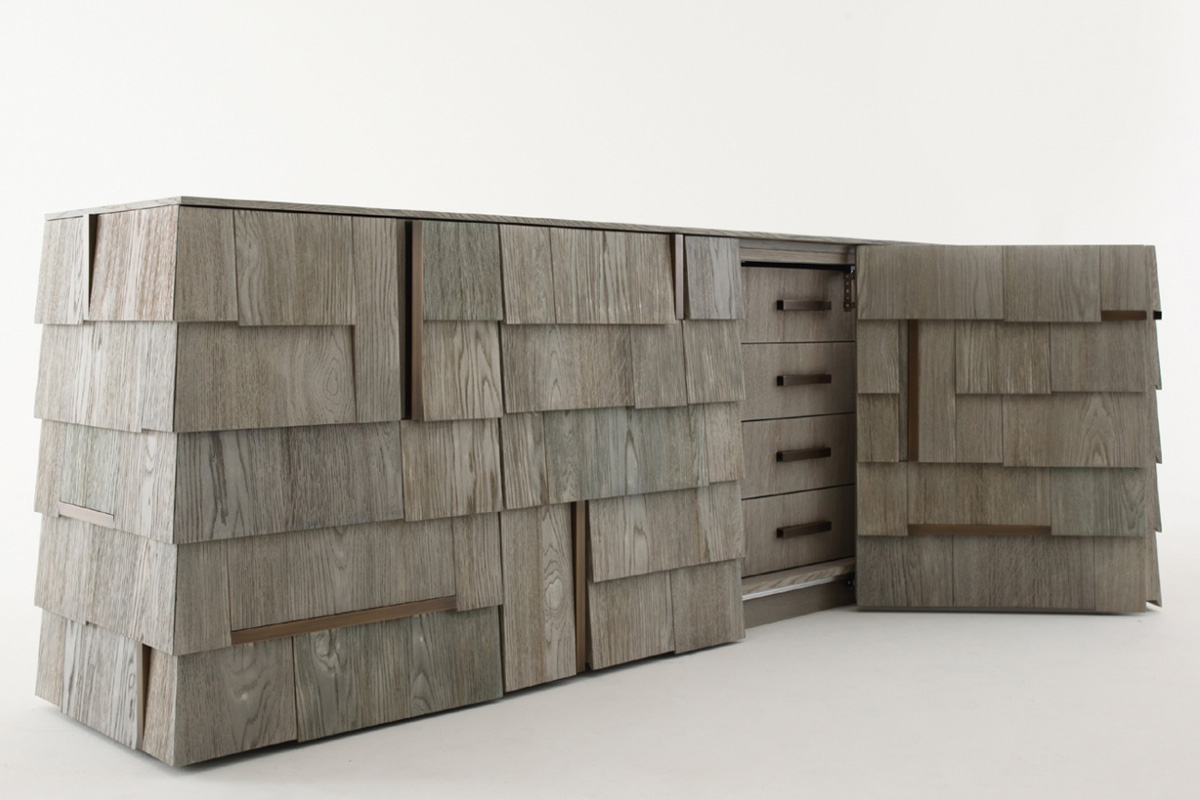 Popular Tiles Sideboard – Regarding Burnt Tannin 4 Door Sideboards (Gallery 3 of 20)
