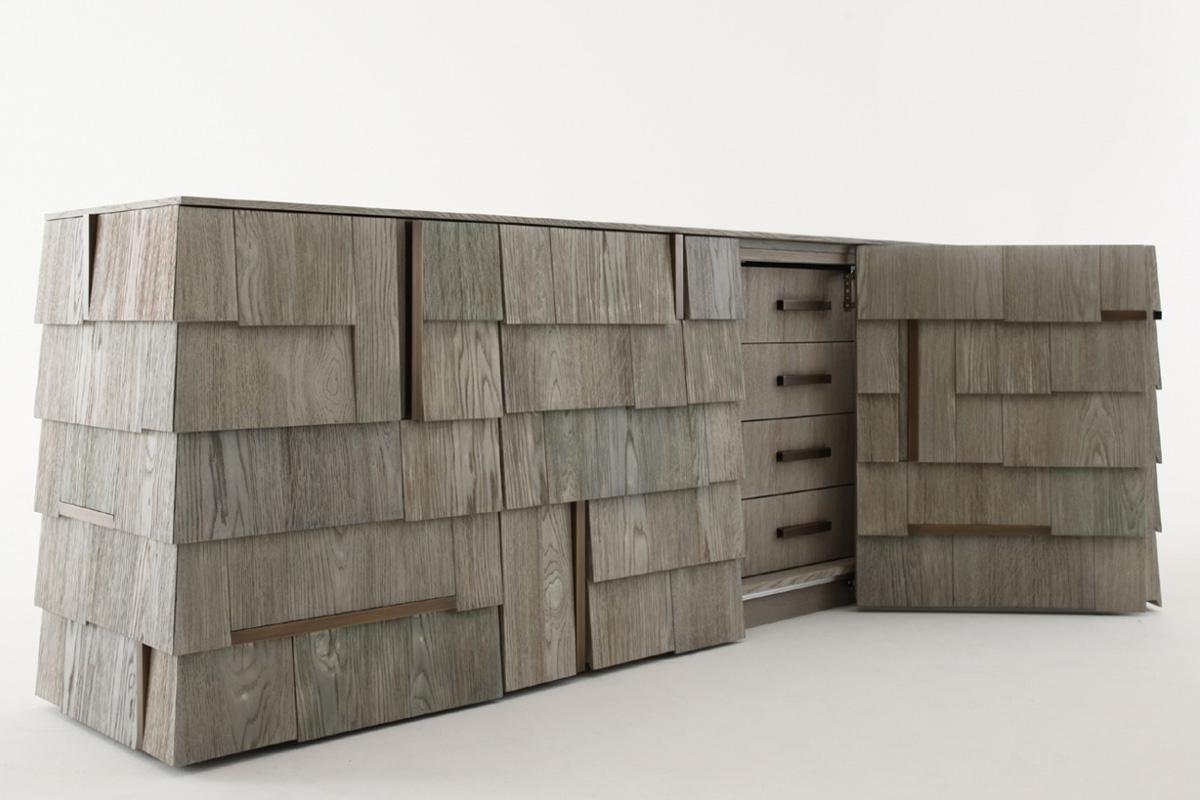 Popular Tiles Sideboard – Regarding Burnt Tannin 4 Door Sideboards (Gallery 3 of 20)