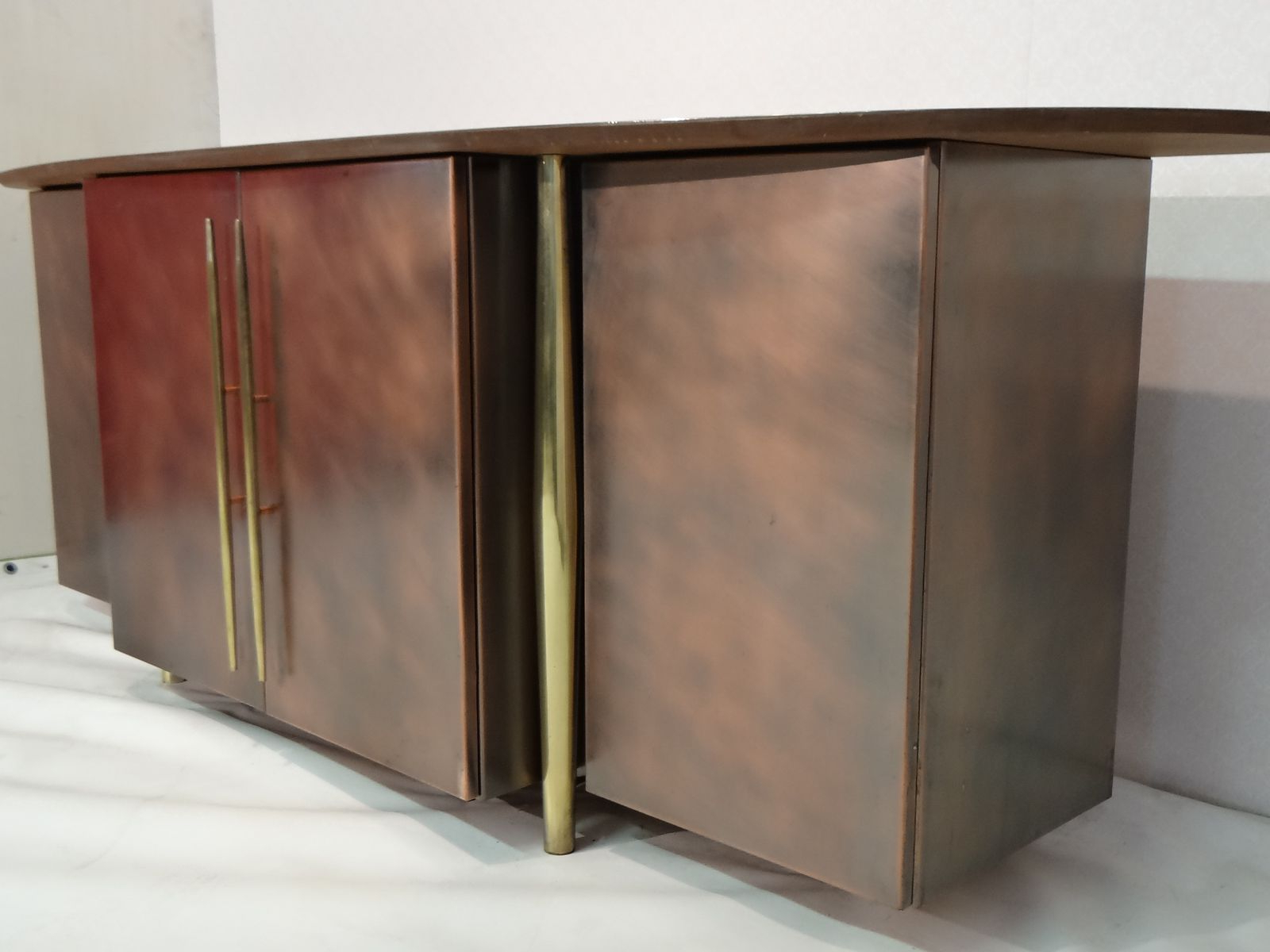 Popular Vintage Brass Sideboard From Belgo Chrom For Sale At Pamono Intended For Aged Brass Sideboards (Gallery 5 of 20)
