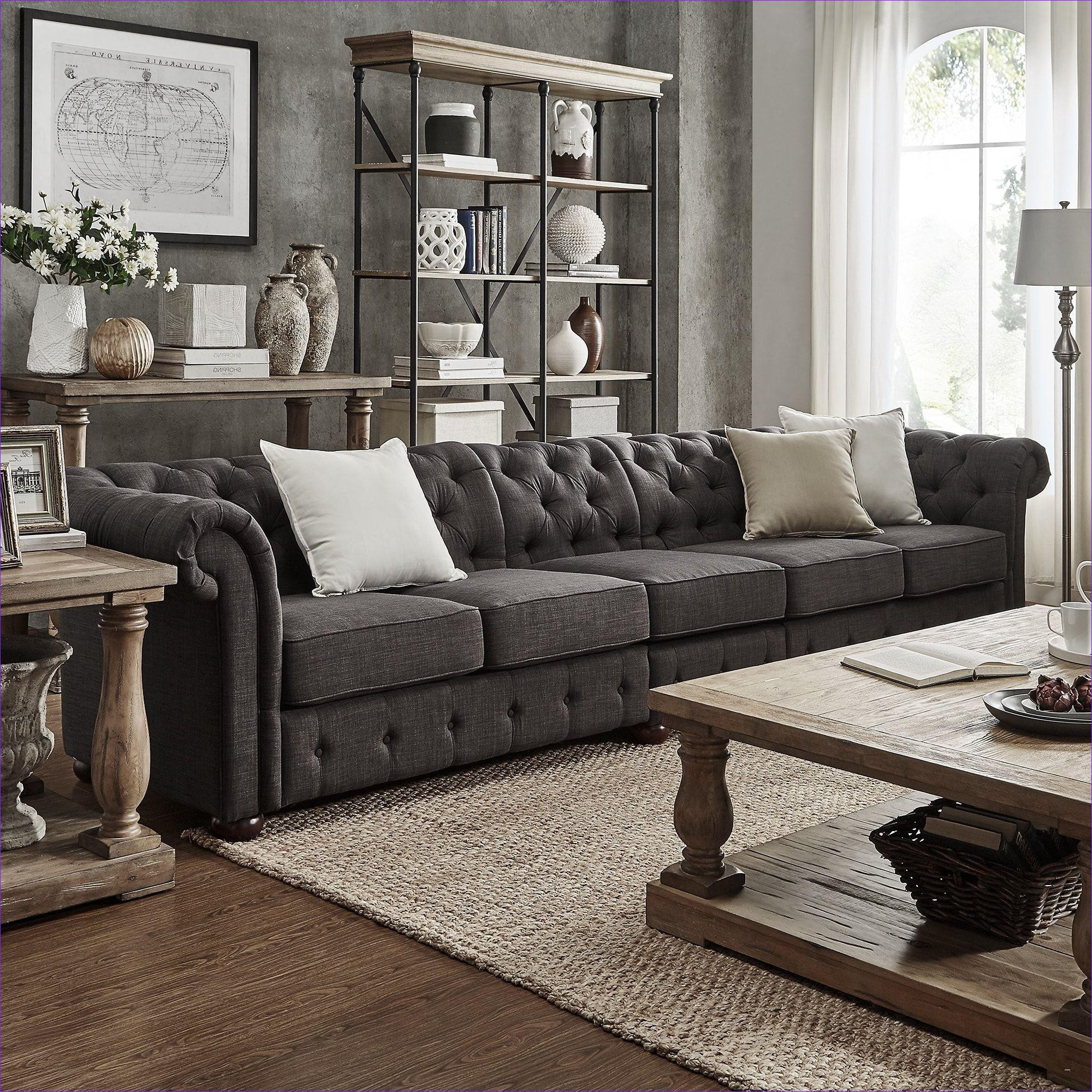 Preferred Aquarius Dark Grey 2 Piece Sectionals With Laf Chaise Throughout 41 Luxury Living Rooms With Sectionals Stock (View 13 of 20)