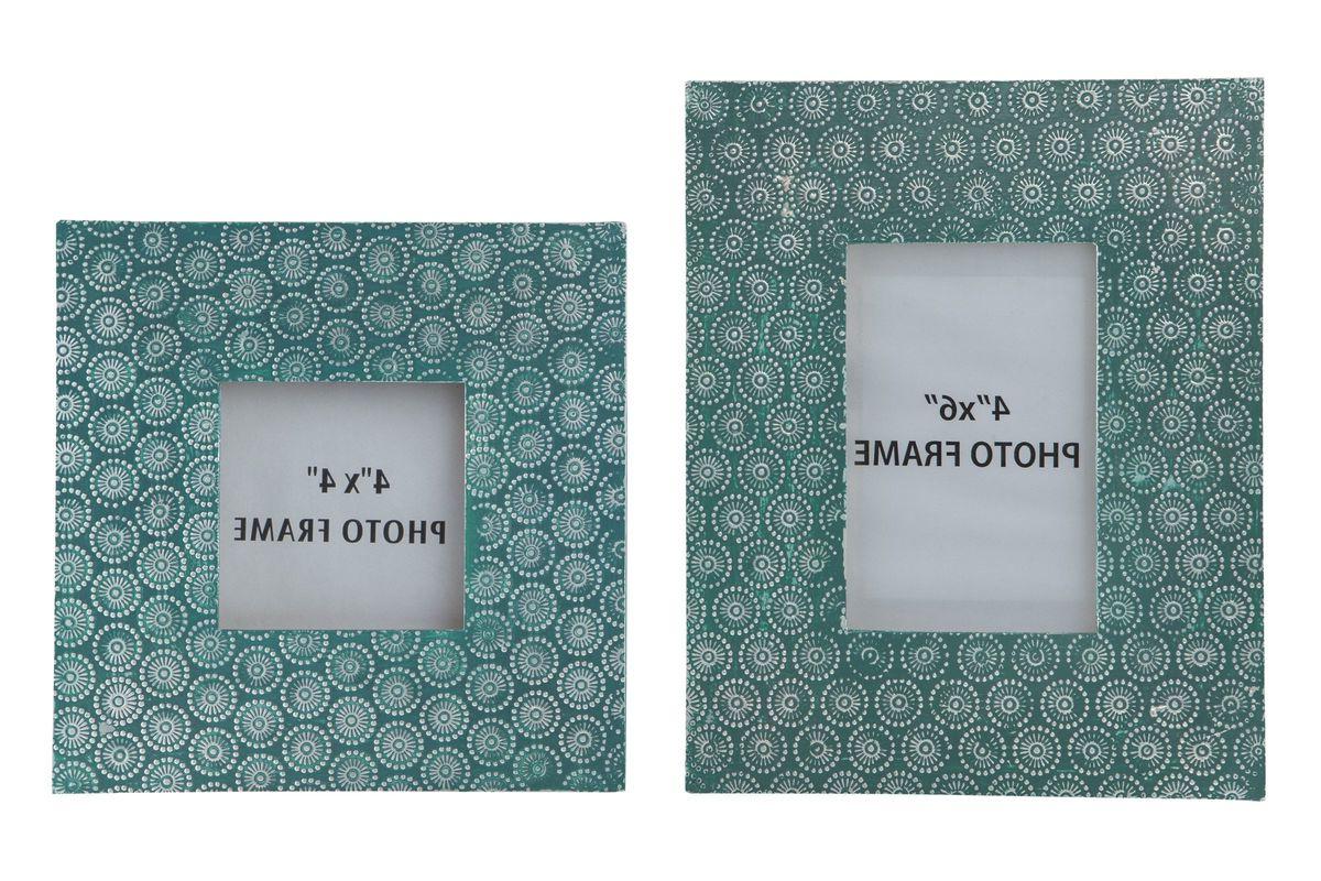 Preferred Bansi Photo Frame Set Of 2 In Tealashley At Gardner White With Geo Capiz Sideboards (View 16 of 20)