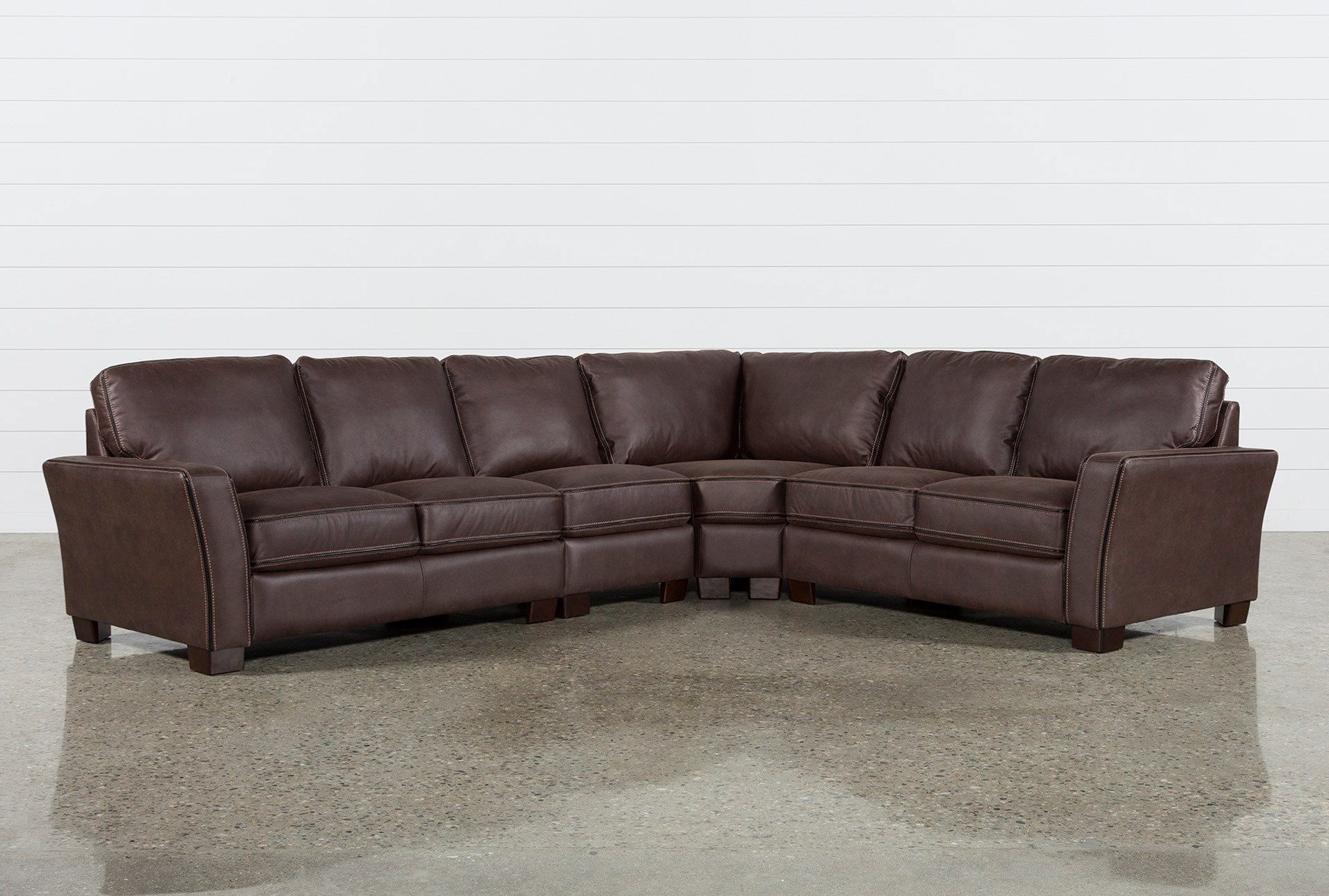Preferred Burton Leather 3 Piece Sectionals Intended For Blaine 4 Piece Sectional In  (View 15 of 20)