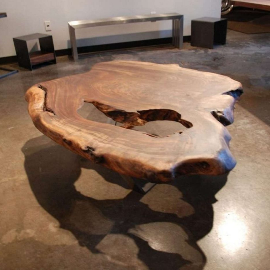 Preferred Glass And Metal Coffee Table Tables Made From Tree Slabs Wood Trunk For Sliced Trunk Coffee Tables (View 6 of 20)