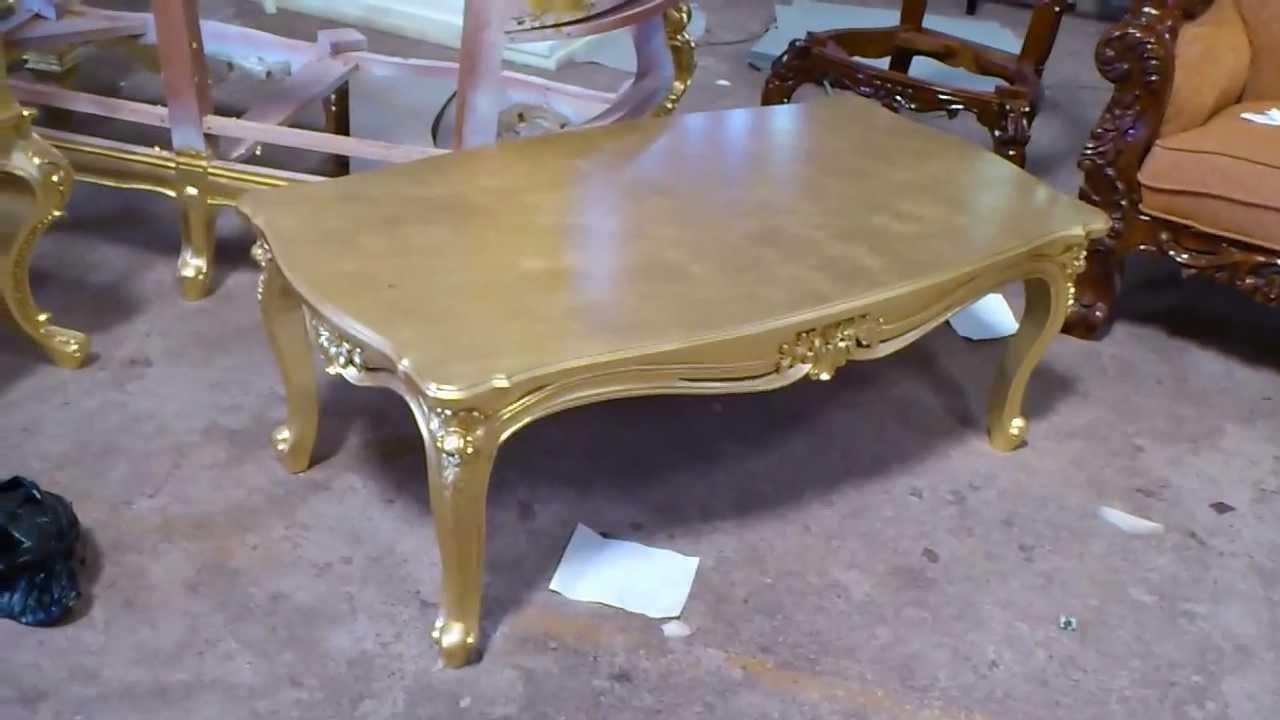 Preferred Gold Leaf Collection Coffee Tables For Antique Gold Leaf Carving Coffee Table – Vixidesign – Youtube (Gallery 20 of 20)