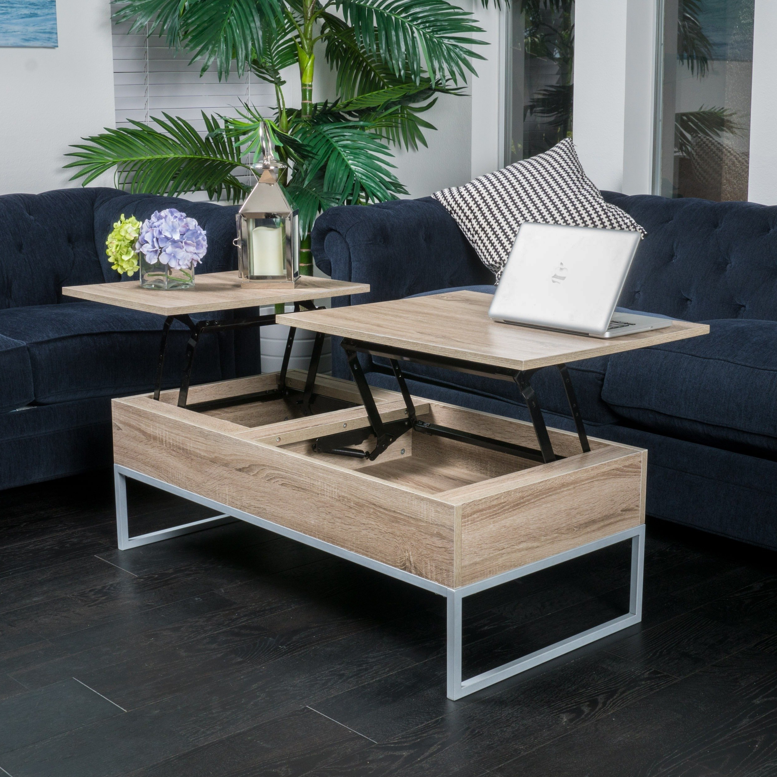 Preferred Grant Lift Top Cocktail Tables With Casters Throughout Shop Christopher Knight Home Lift Top Wood Storage Coffee Table – On (View 7 of 20)