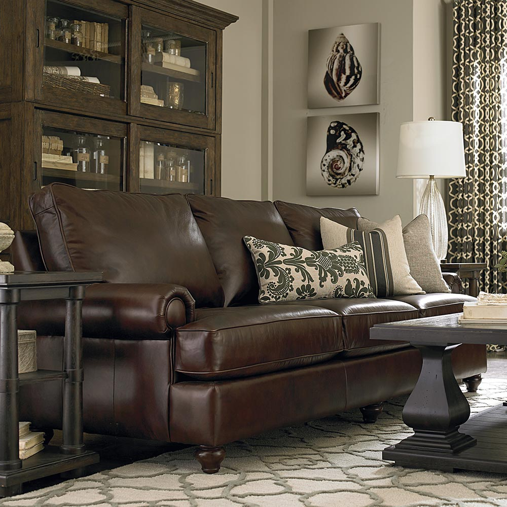 Preferred Harper Down 3 Piece Sectionals With Regard To Custom Leather Montague Great Room Sofa (View 12 of 20)