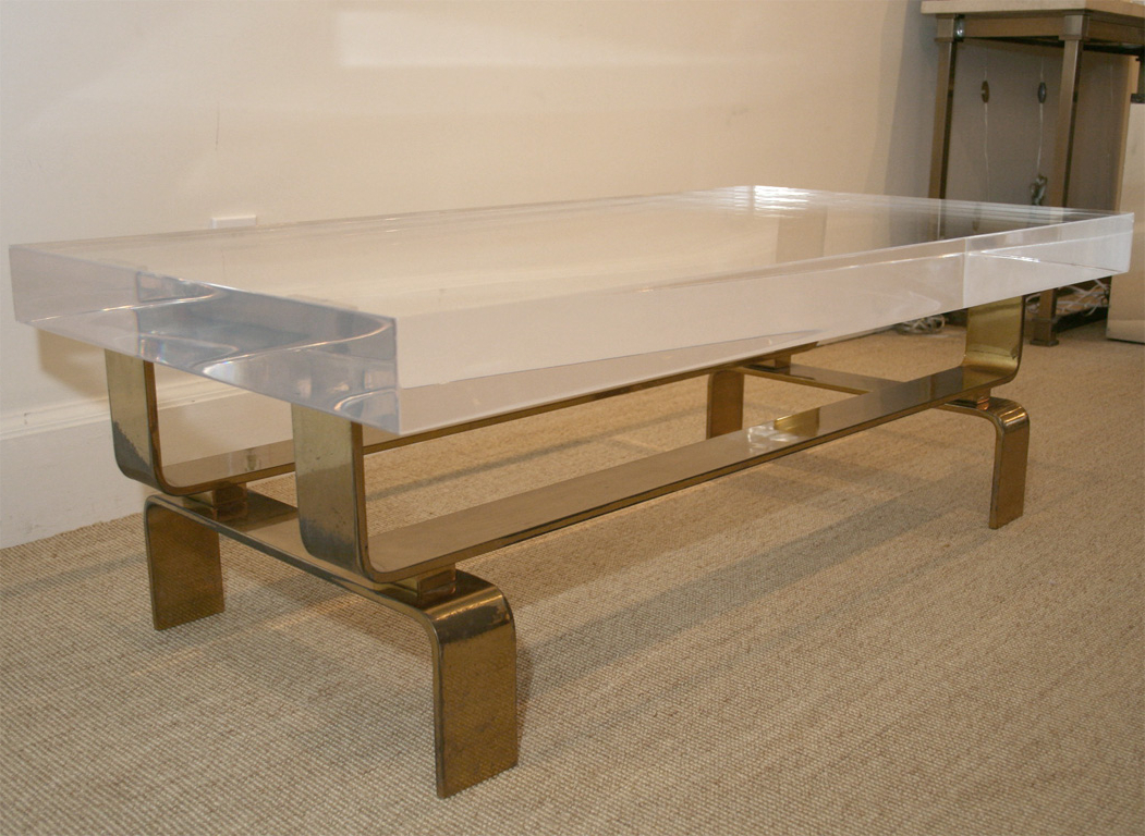 Preferred Lucite Coffee Table Modern — Fossil Brewing Design : Decorate Lucite In Modern Acrylic Coffee Tables (Gallery 10 of 20)