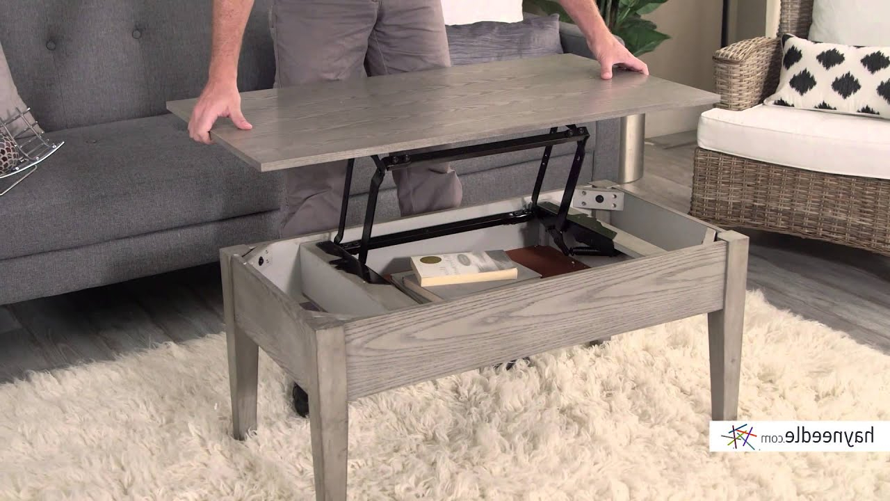 Preferred Market Lift Top Cocktail Tables Inside Turner Lift Top Coffee Table – Gray – Product Review Video – Youtube (Gallery 10 of 20)
