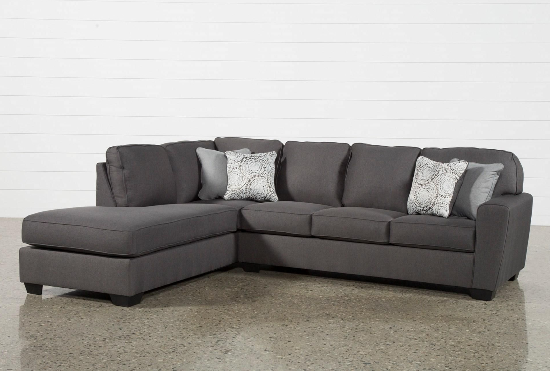 Preferred Mcdade Graphite 2 Piece Sectional W/raf Chaise In 2018 (Gallery 2 of 20)